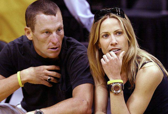 Tour de France winner Lance Armstrong, left, became engaged to rock star Sheryl Crow in 2004.