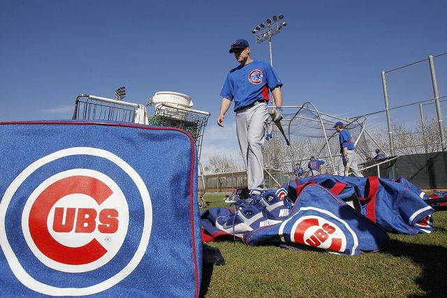 Chicago Cubs' Brad Snyder waits to bat during baseball spring training Wednesday, Feb. 16, 2011, in Mesa, Ariz.