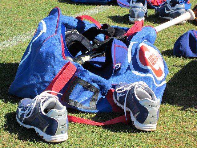 Images from Cubs players and personnel at spring training in Mesa on Wednedsay.