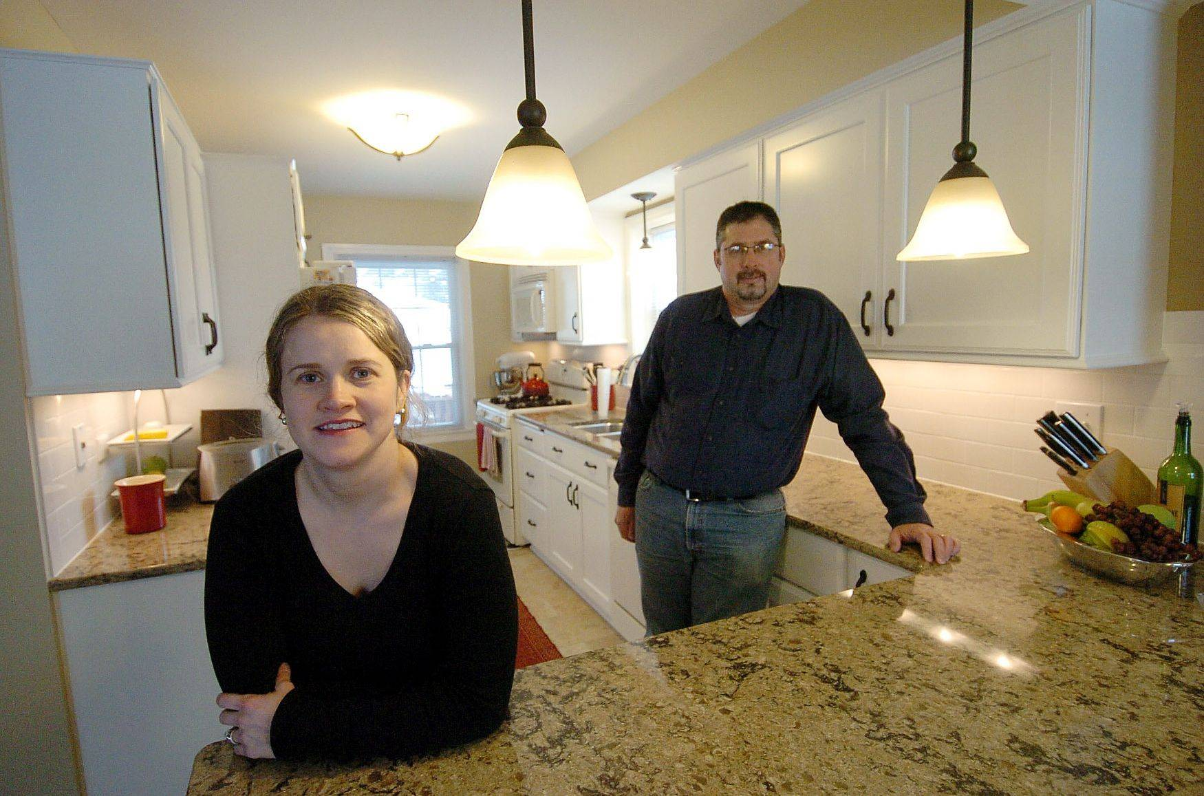 Catherine Esquivel remodeled her kitchen in Mount Prospect with the help of contractor Randy Franz.
