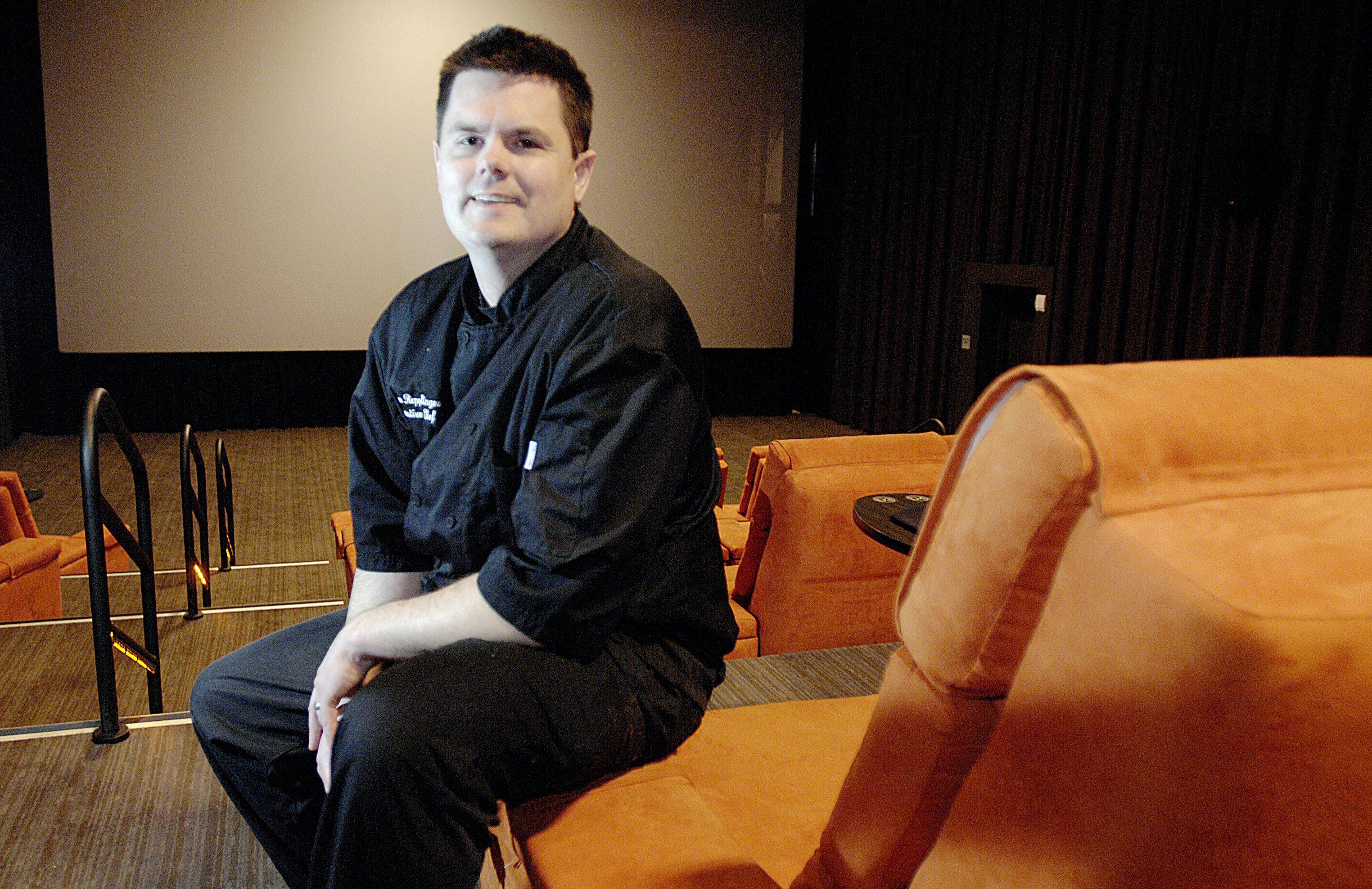 Gold Class Cinema executive chef Ryan Repplinger says cooking for people eating in a dark theater has its challenges.