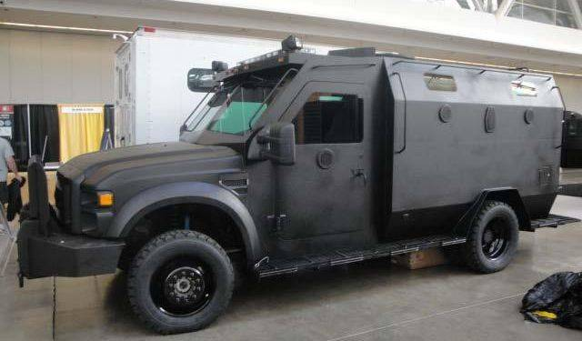 The Elgin City Council will consider a police department proposal to purchase an armored vehicle like this one to use in dangerous situations.
