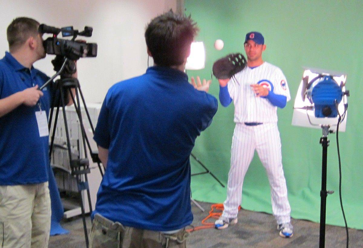 It was photo day Tuesday at Cubs training camp in Mesa, Ariz., and the Vine Line staff grabs some frames of new Cubs first baseman Carlos Pena.