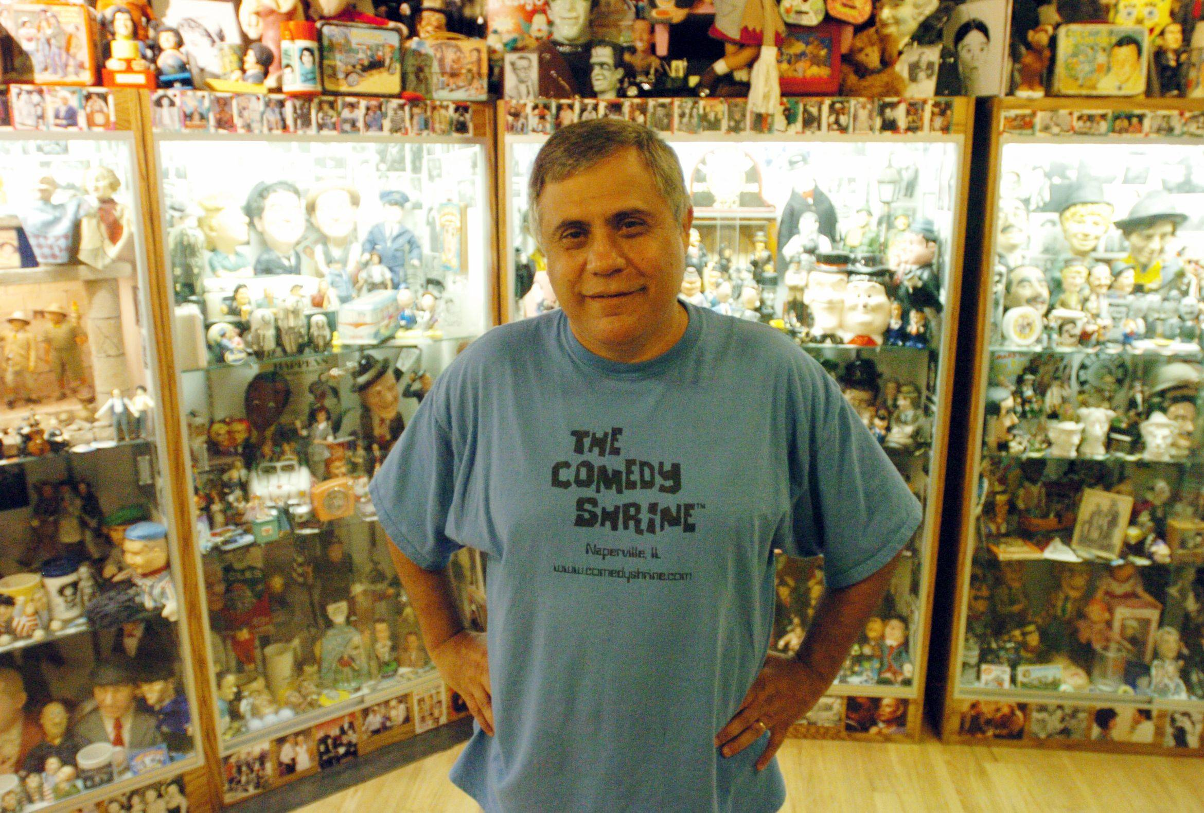 David Sinker is the founder of the Comedy Shrine, which is moving from Naperville to Aurora.