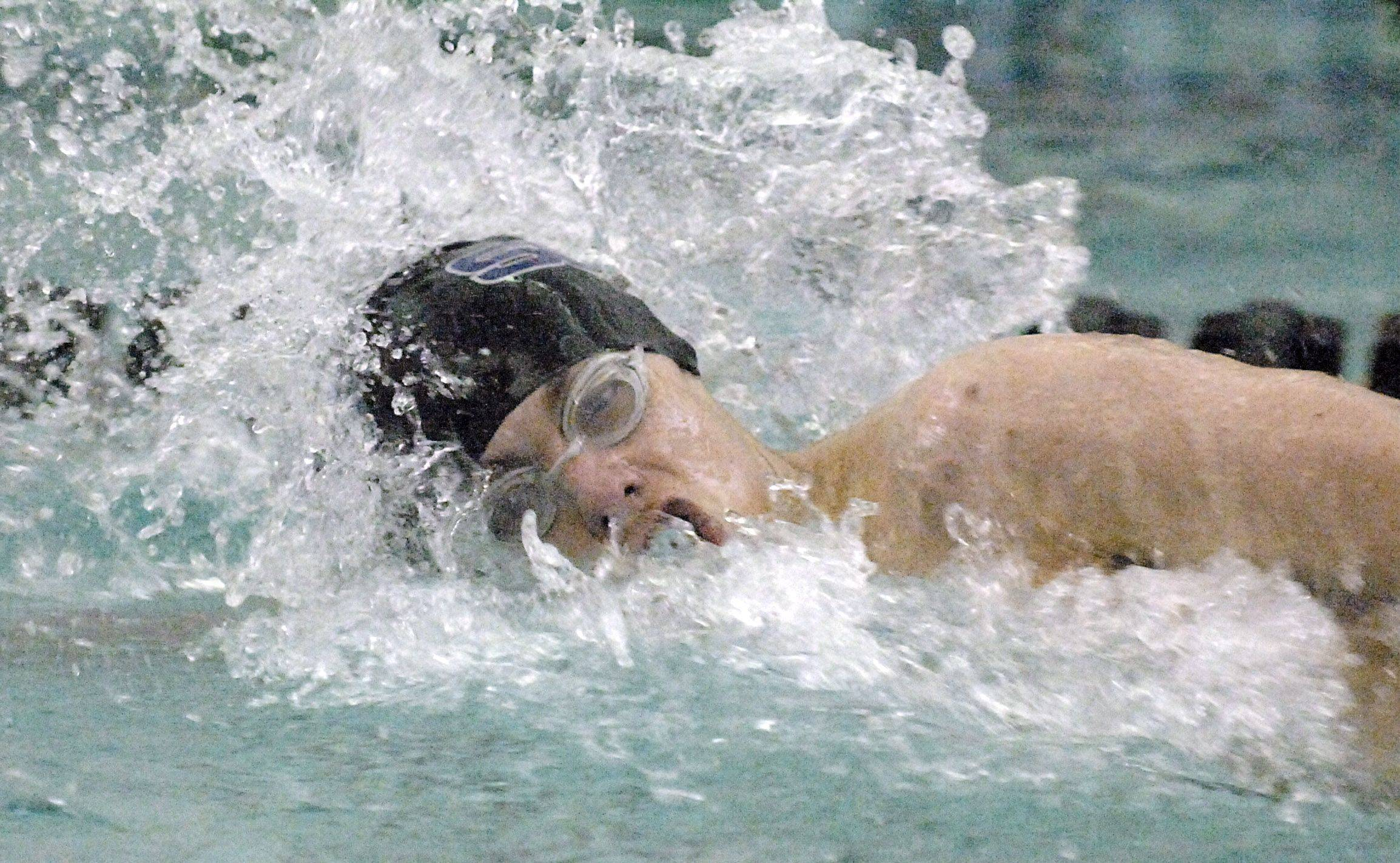 St. Charles North�s Chris Dieter swims the 200 free at last week�s St. Charles North sectional.