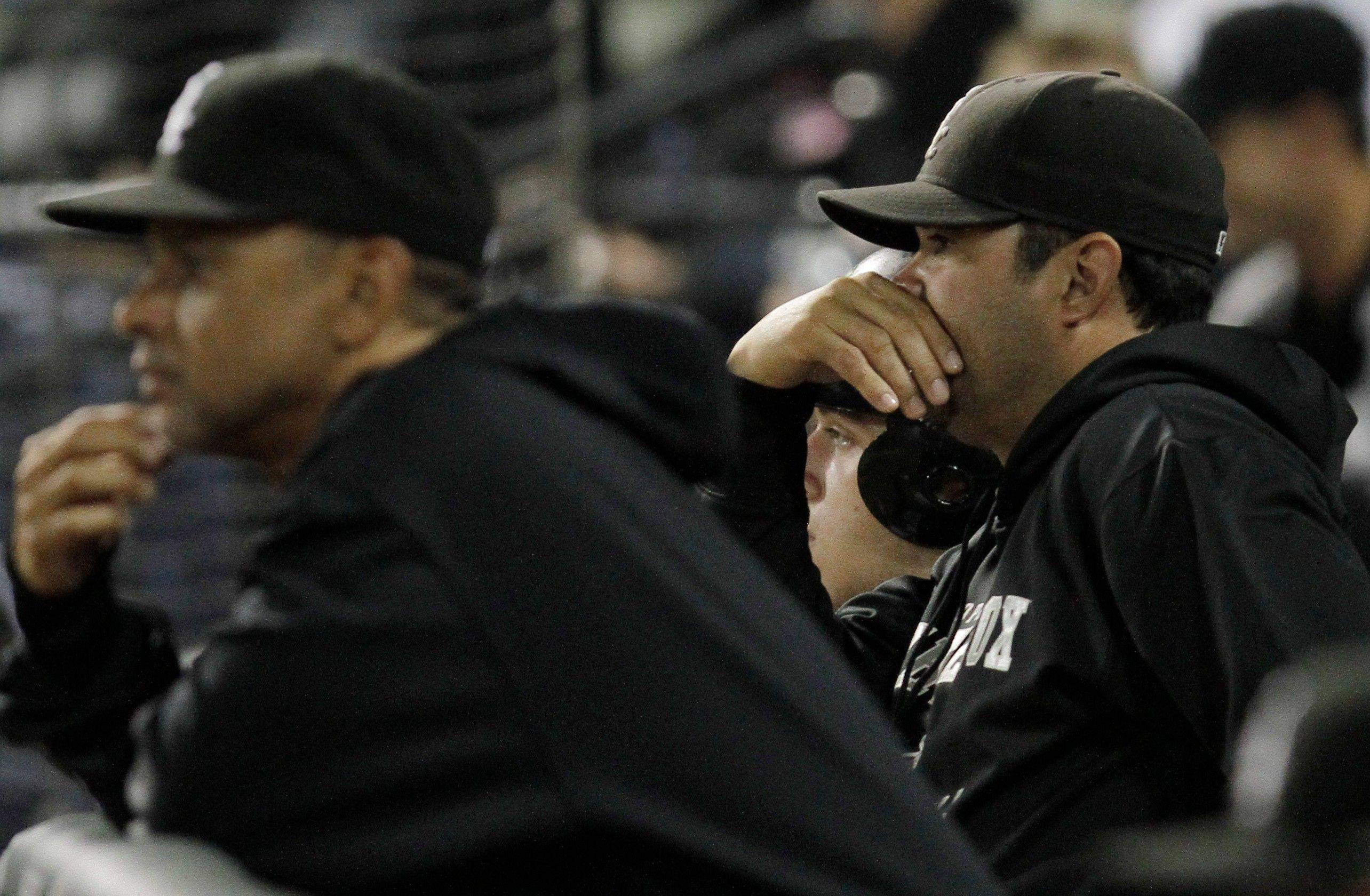 Bench coach Joey Cora, left, is happy in his role with the White Sox and manager Ozzie Guillen, but Cora still hopes to get a chance to manage a big-league club some day. He interviewed for the Milwaukee job, which went to Angels bench coach Ron Roenicke.