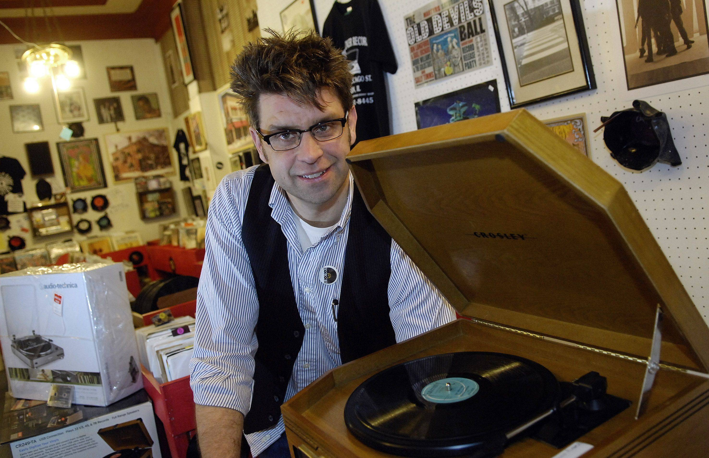 Rich Wagner has fulfilled a longtime dream and opened a record store in Elgin. Rediscover Records opened in June and shares space with an antique shop.