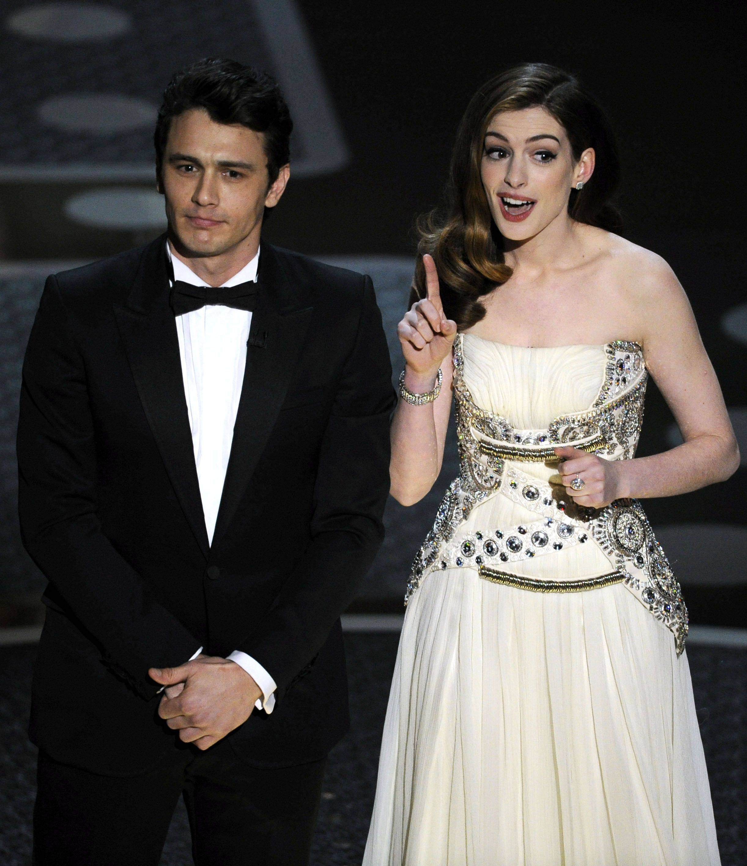 Associated PressHosts James Franco and Anne Hathaway open the show Sunday.