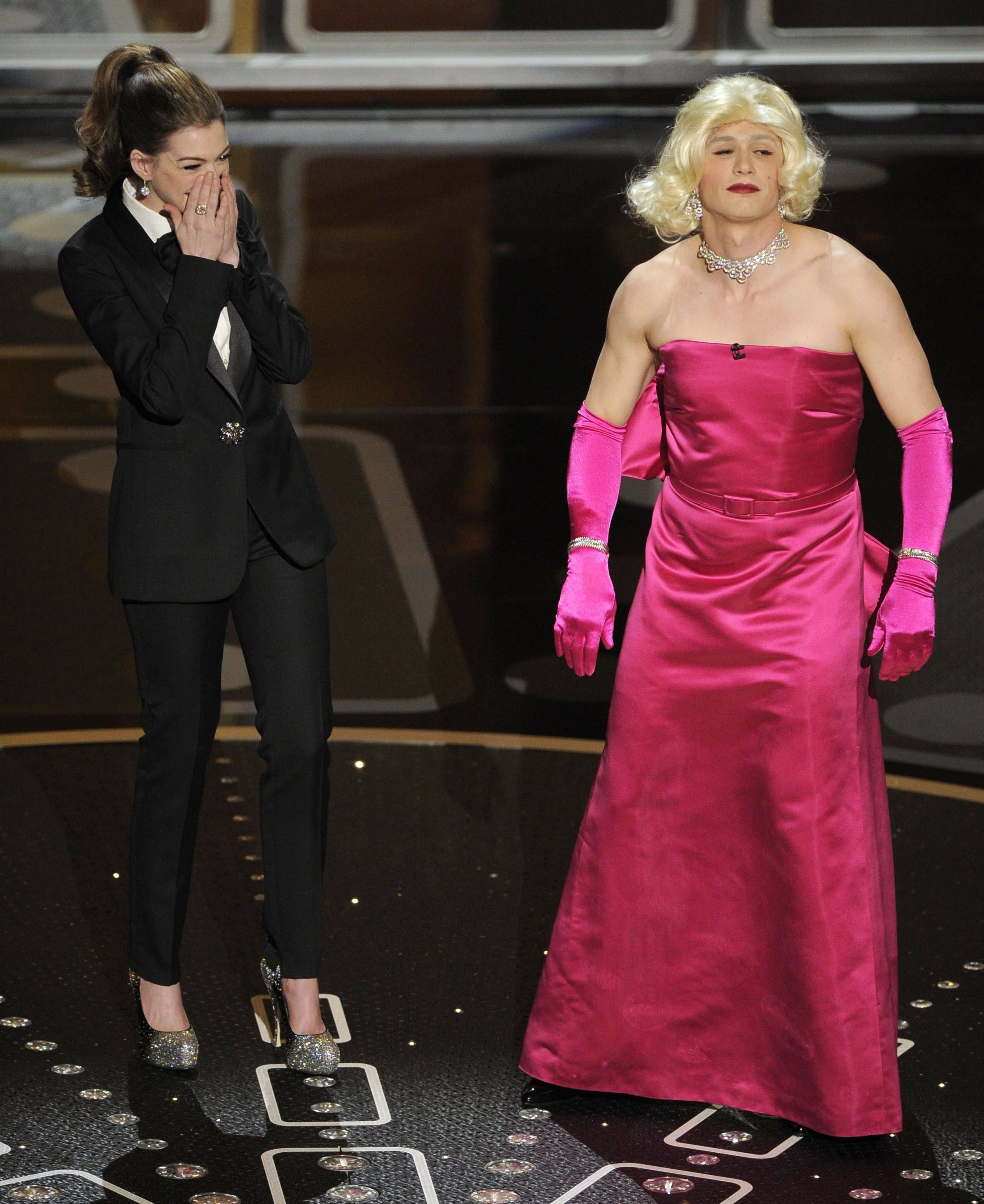 Associated PressShow hosts Anne Hathaway, left, and James Franco are seen during the 83rd Academy Awards.