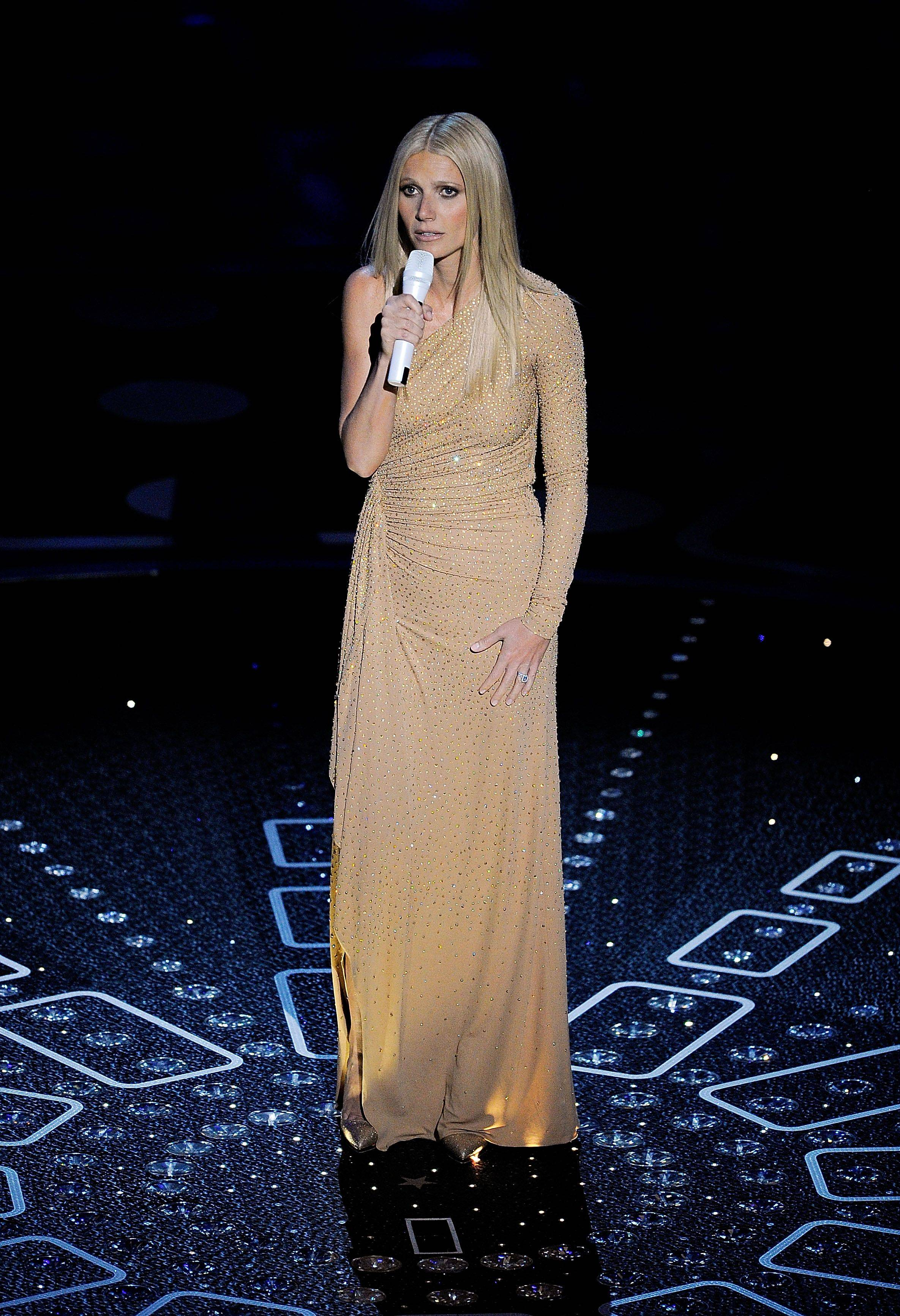 Associated PressActress Gwyneth Paltrow performs.