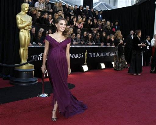 Actress Natalie Portman arrives before the 83rd Academy Awards on Sunday in the Hollywood section of Los Angele