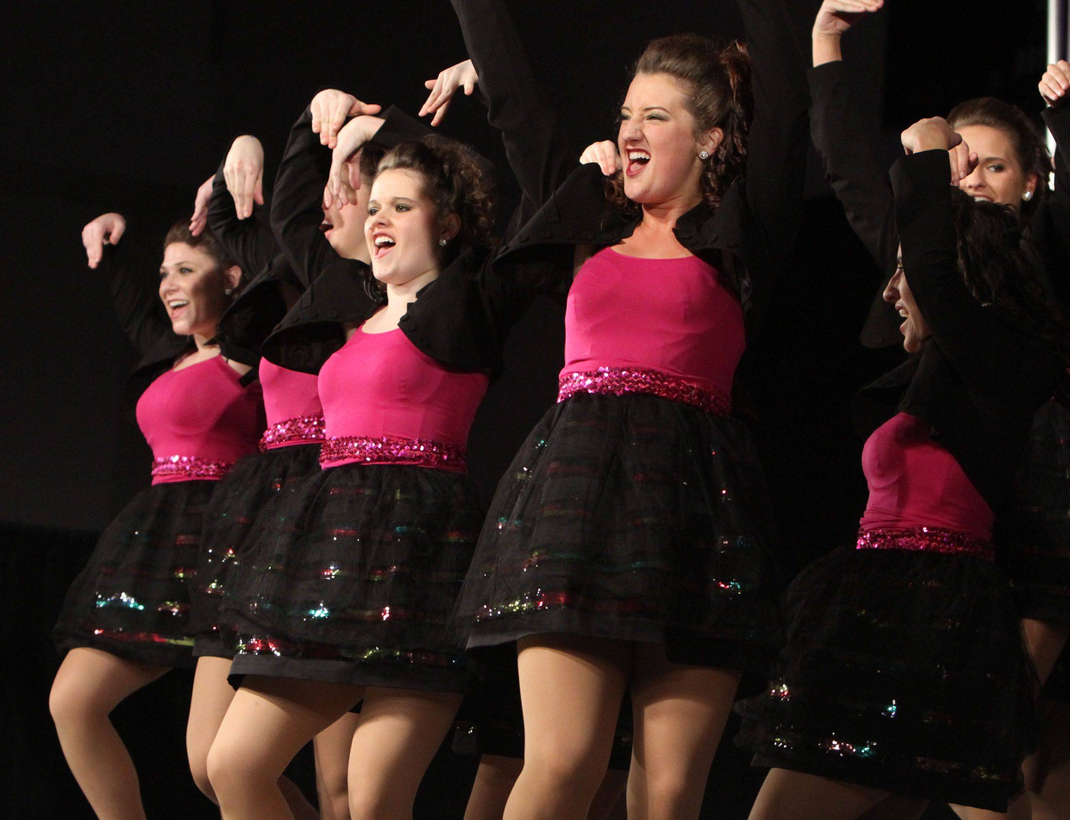Buffalo Grove's Expressions compete at the 18th annual Chicagoland Showcase choir competition at Hersey in Arlington Heights on Saturday.
