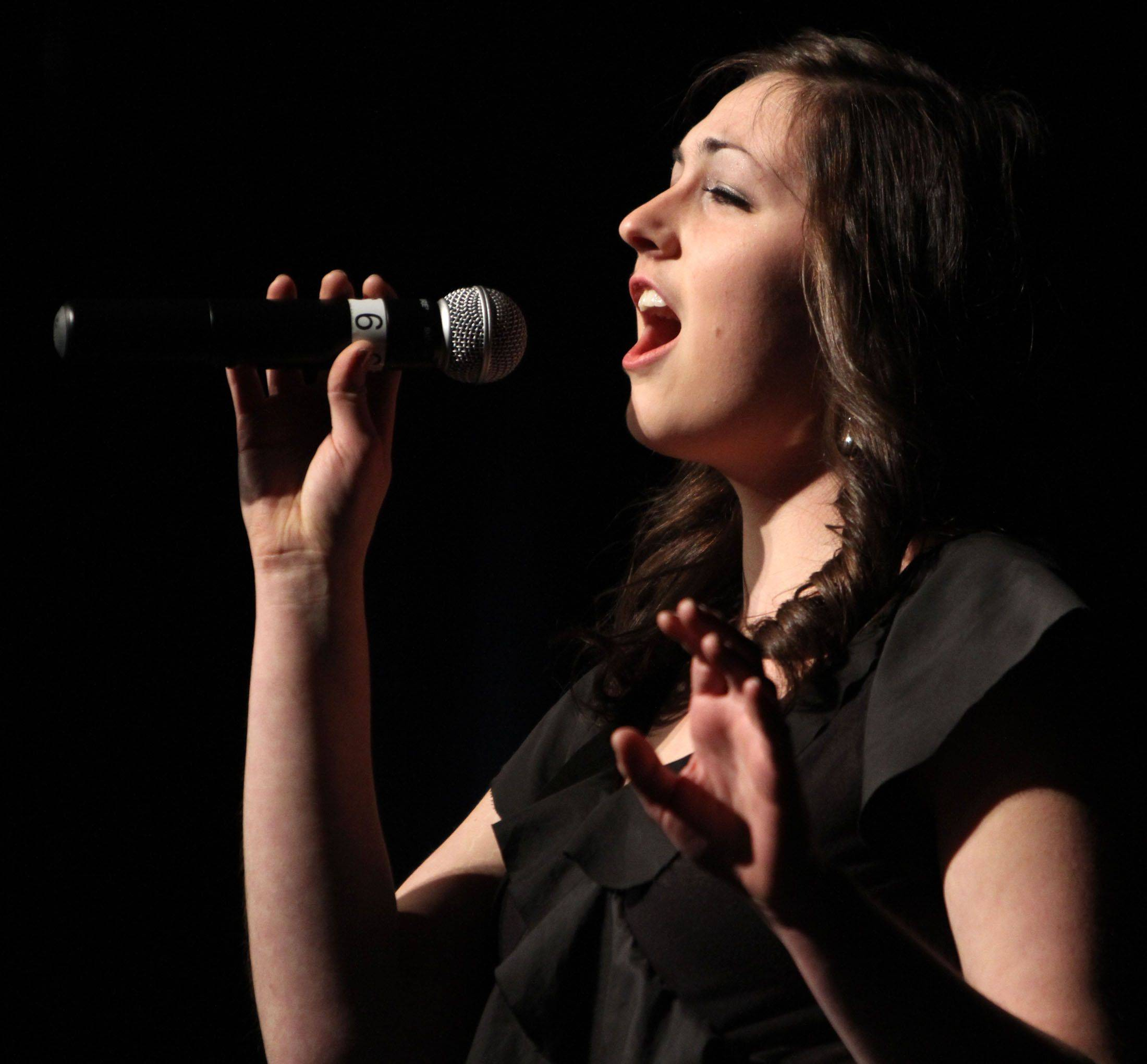 Prospect's Claire Reibel competes in solo division at the 18th annual Chicagoland Showcase choir competition at Hersey in Arlington Heights on Saturday.