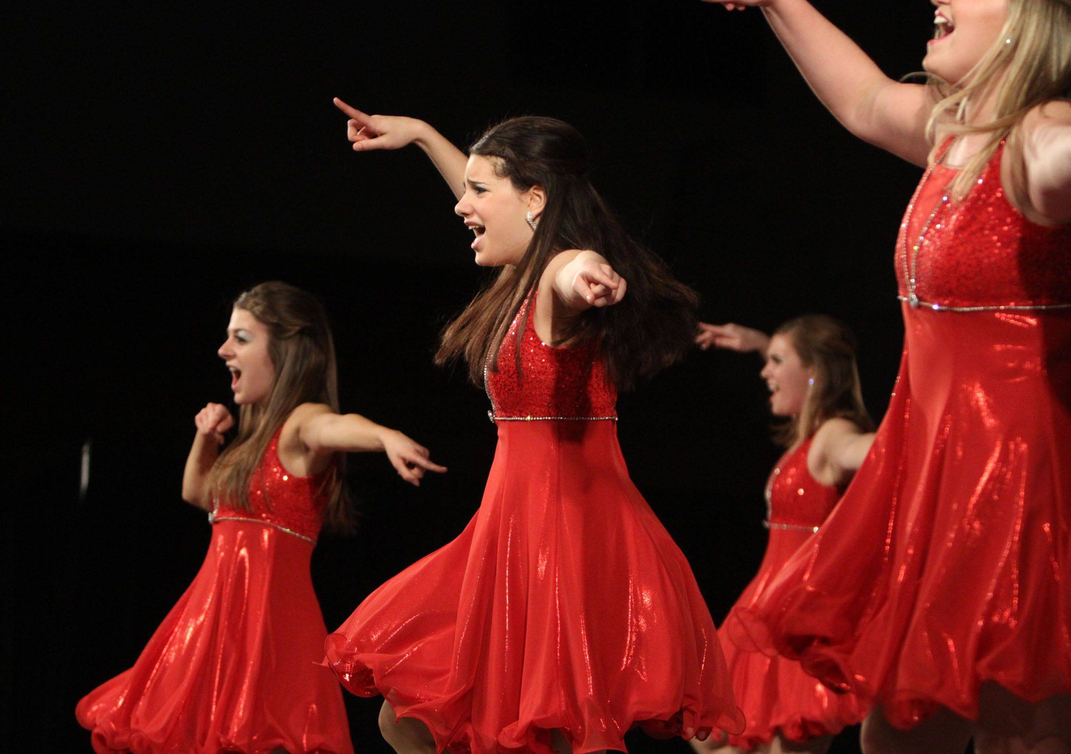 Rolling Meadows' Trebelious competes in the festival division at the 18th annual Chicagoland Showcase choir competition at Hersey in Arlington Heights on Saturday.