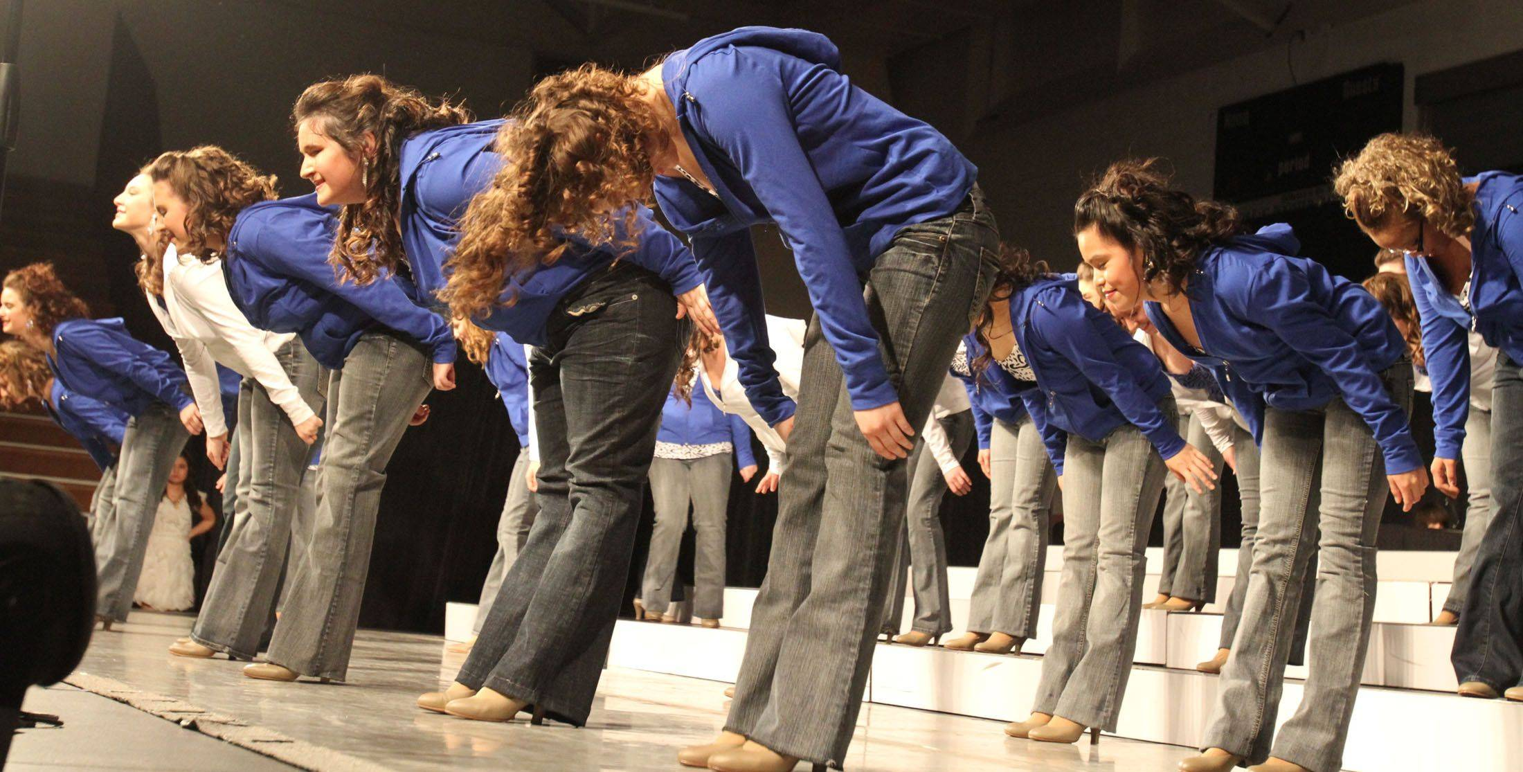 Buffalo Grove's New Vibes competes in the festival division at the 18th annual Chicagoland Showcase choir competition at Hersey in Arlington Heights on Saturday.