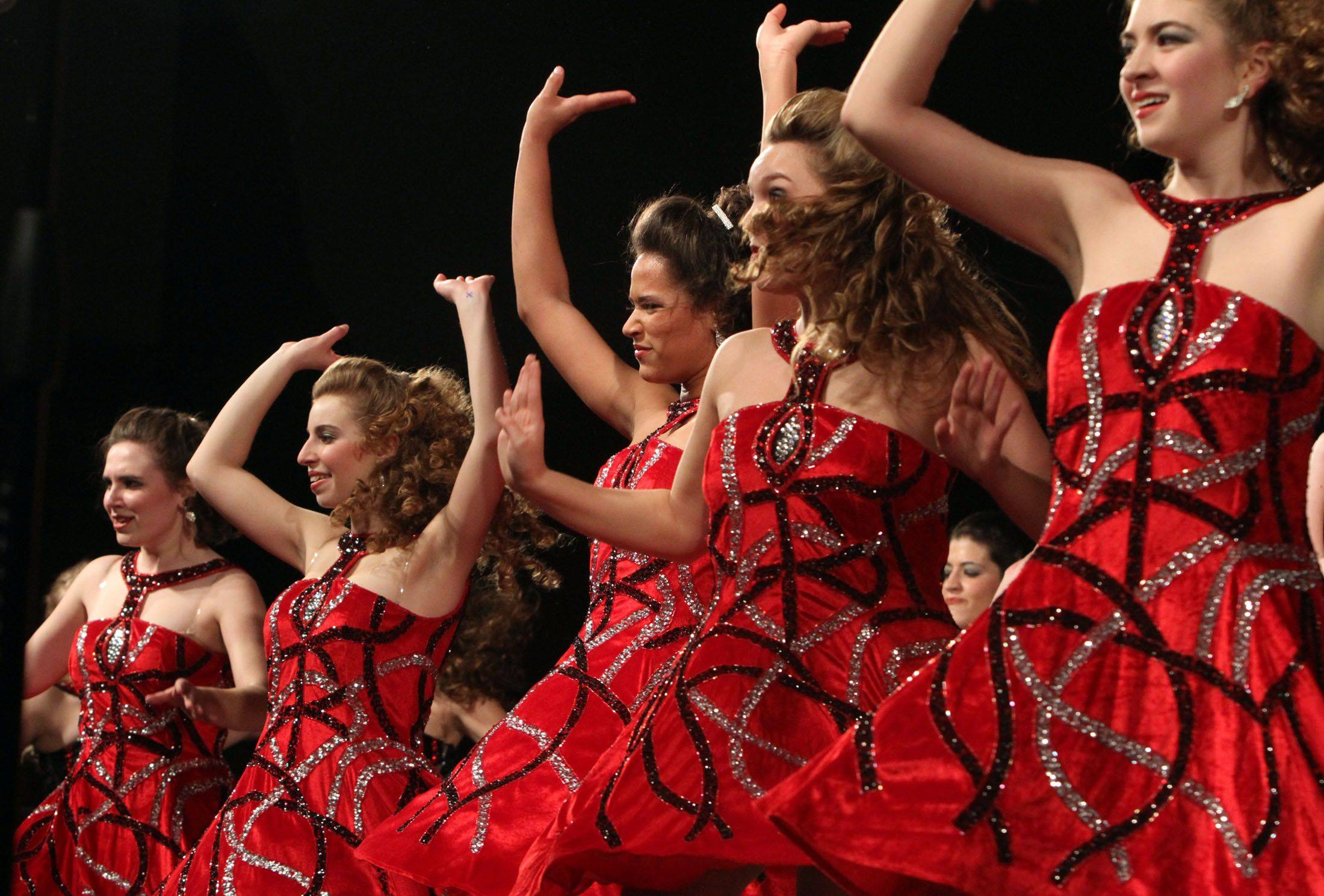 Wheaton Warrenville South competes in the festival division at the 18th annual Chicagoland Showcase choir competition at Hersey in Arlington Heights on Saturday.