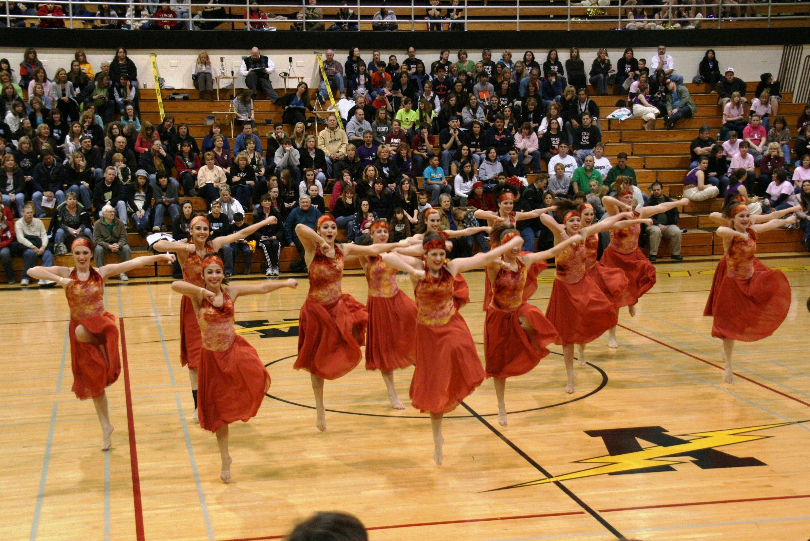 "The Lake Park Lancettes open dance team performs ""Wavin' Flag,"" which they will reprise in Peoria."