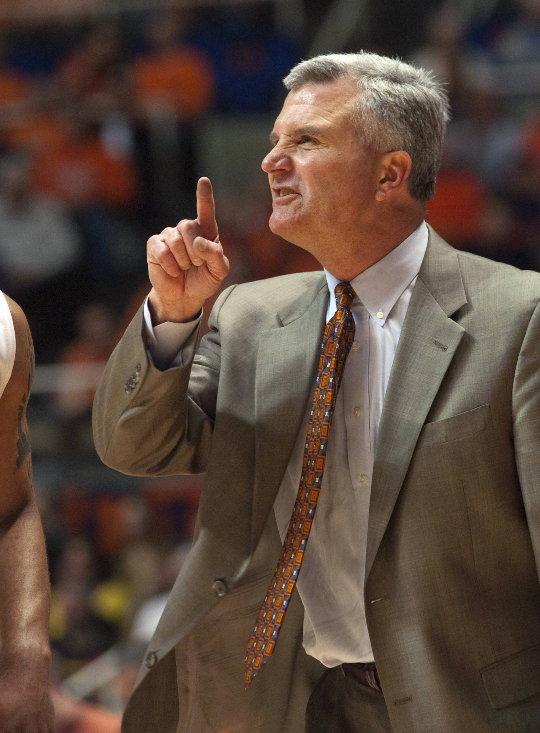 """I would be dumbfounded (if Illinois didn't make the NCAA Tournament), to be honest,"" coach Bruce Weber said."