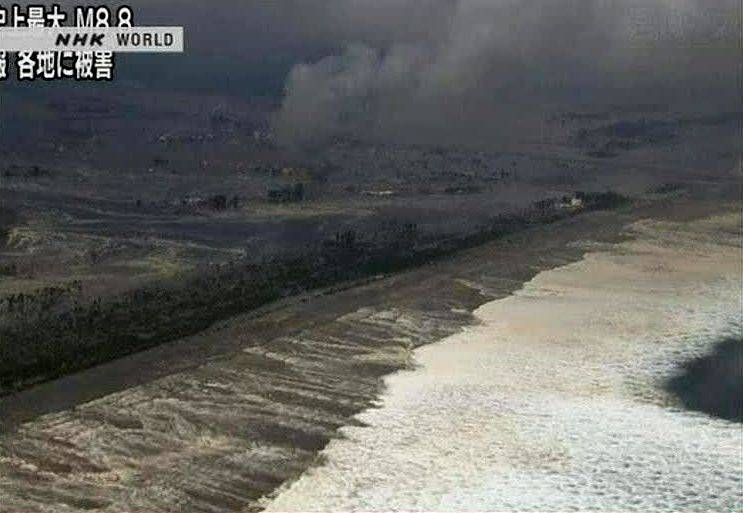 In this video image taken from Japan's NHK TV, a wave from the tsunami heads to the coast in Miyagi Prefecture on the north east coast of Japan Friday March 11, 2011 following a massive earth quake. A magnitude 8.9 earthquake slammed Japan's northeastern coast Friday, unleashing a 13-foot (4-meter) tsunami that swept boats, cars, buildings and tons of debris miles inland. Fires triggered by the quake burned out of control up and down the coast.