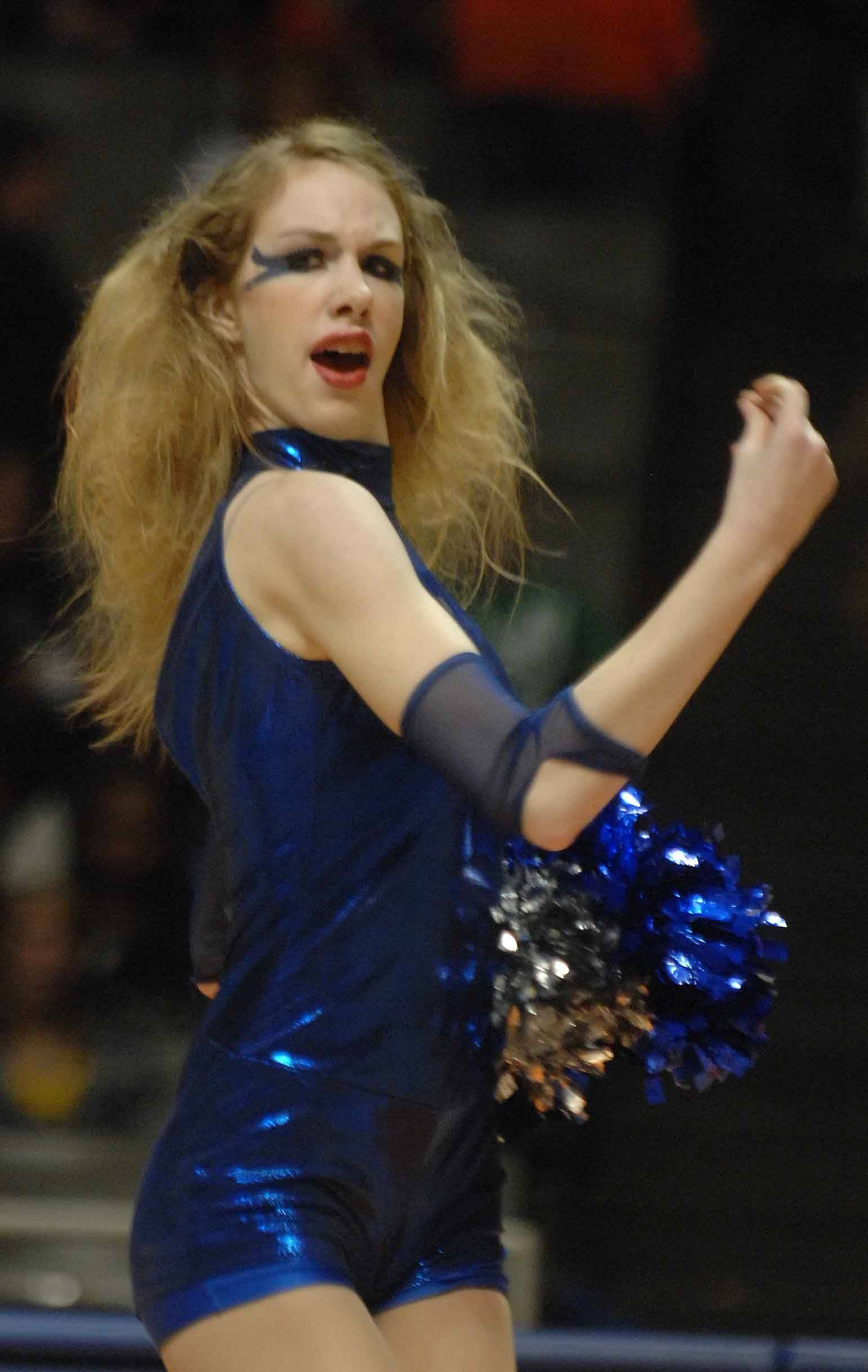 Lexy Meville of Waubonsie Valley takes part in the pom portion of the competition.