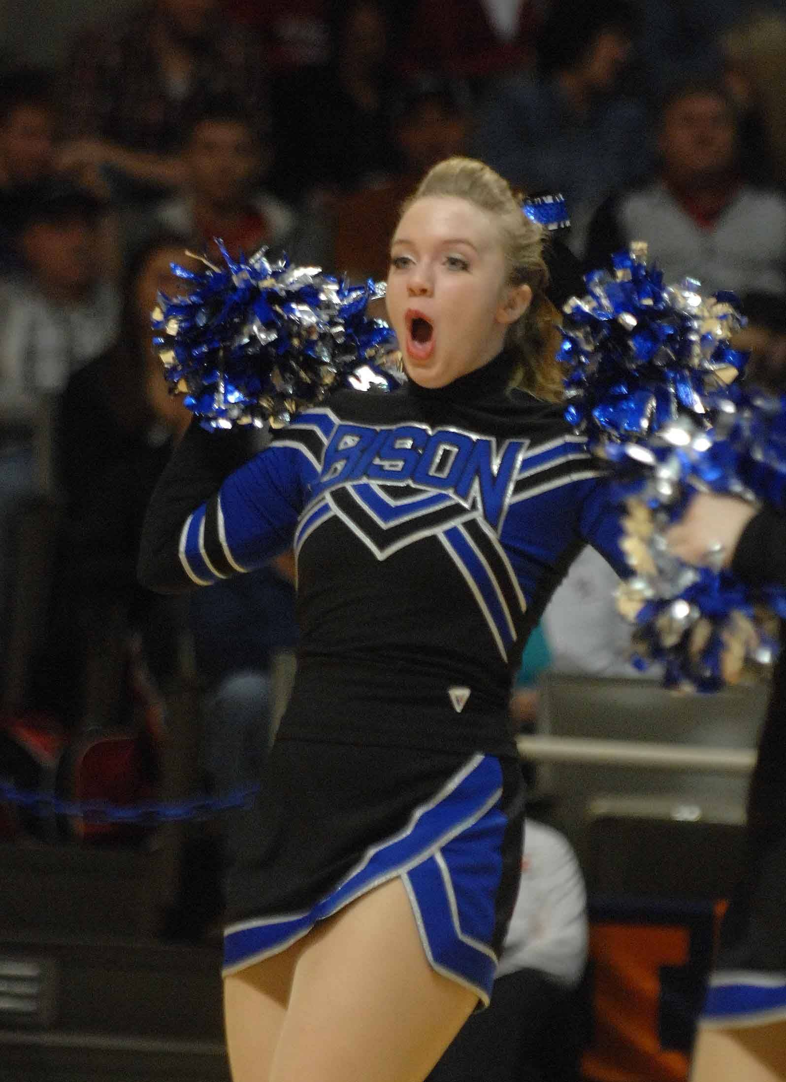 Ashley Dawson of the Fenton pom team takes part in the Illinois Drill Team Association State Finals Saturday.