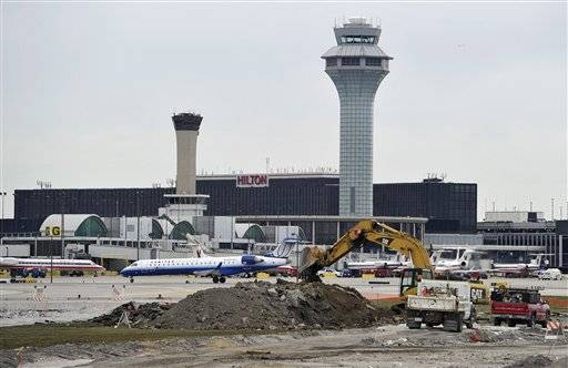 Chicago's O'Hare airport overtook London Heathrow to become the third busiest airport according to a new report.