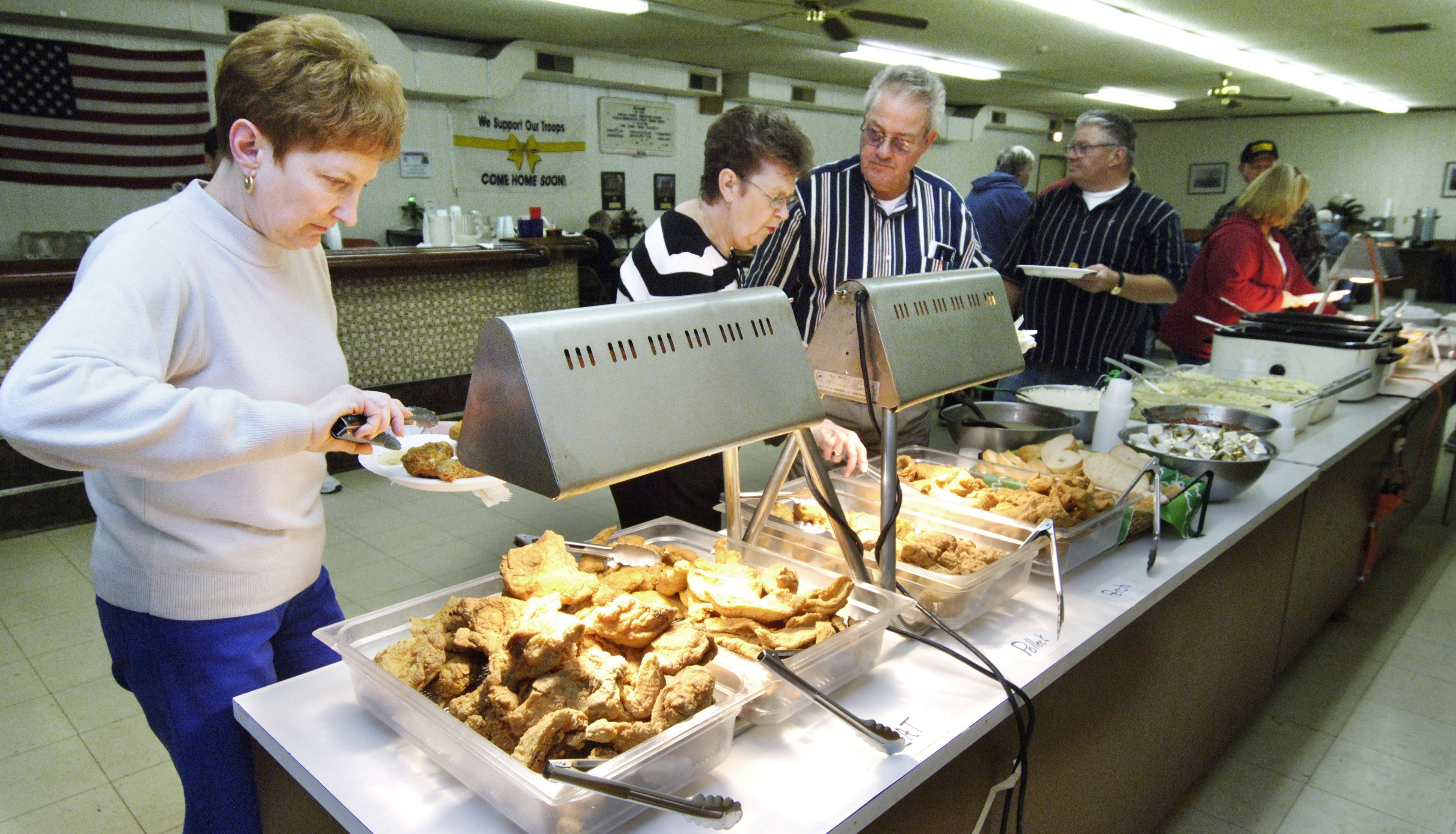 Three types of fish, chicken and sides are options for diners at the Sugar Grove American Legion Post 1271.