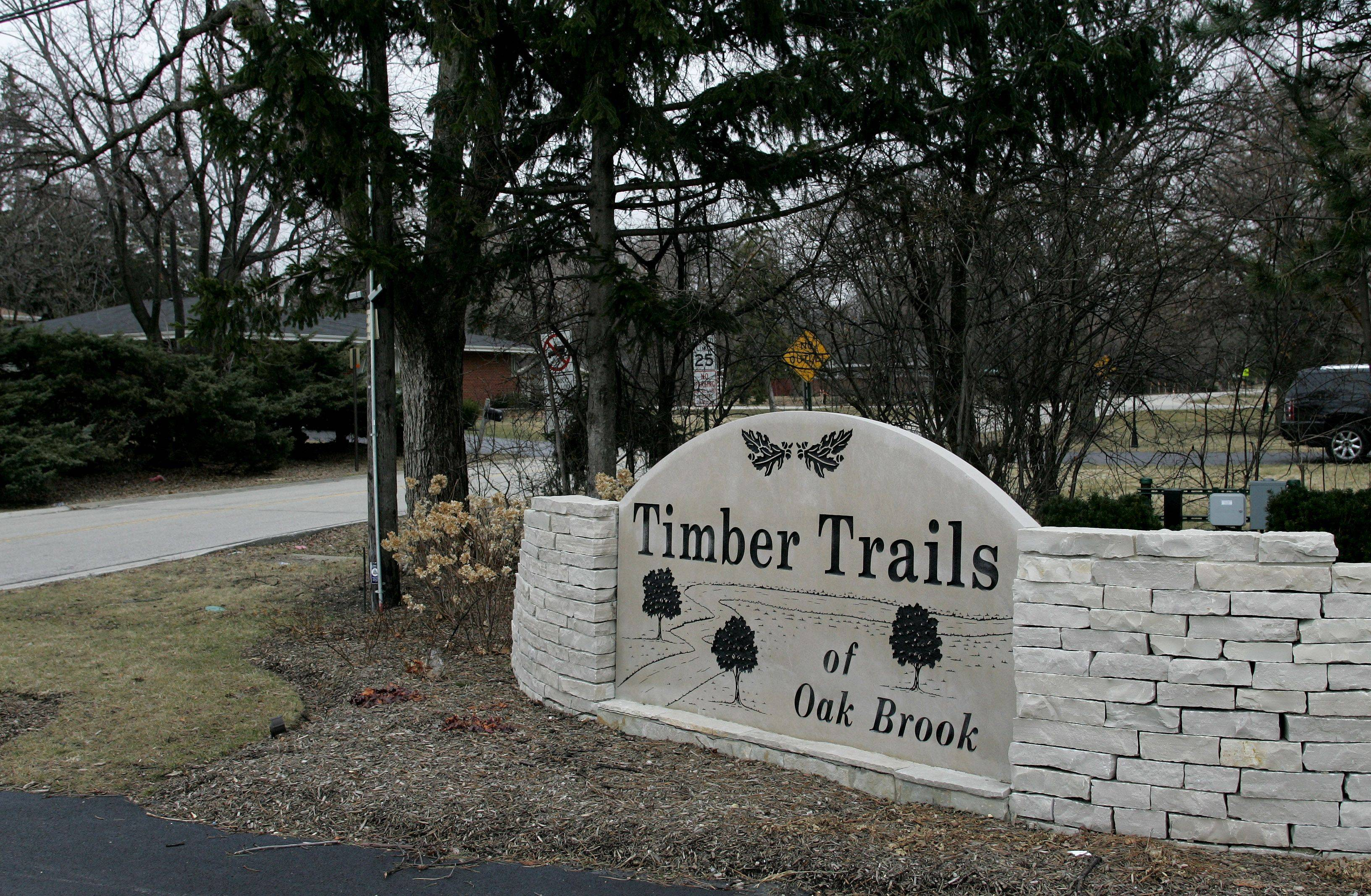 Residents of Timber Trails and surrounding subdivisions in Oak Brook want to join the Oak Brook and Hinsdale school systems.