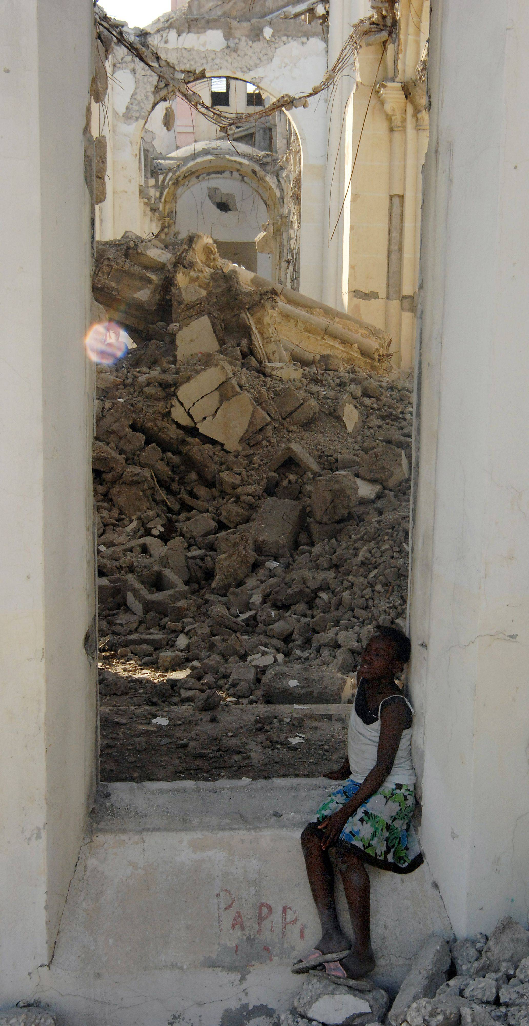 The Port-au-Prince Cathedral is now a place where kids play instead of praying.