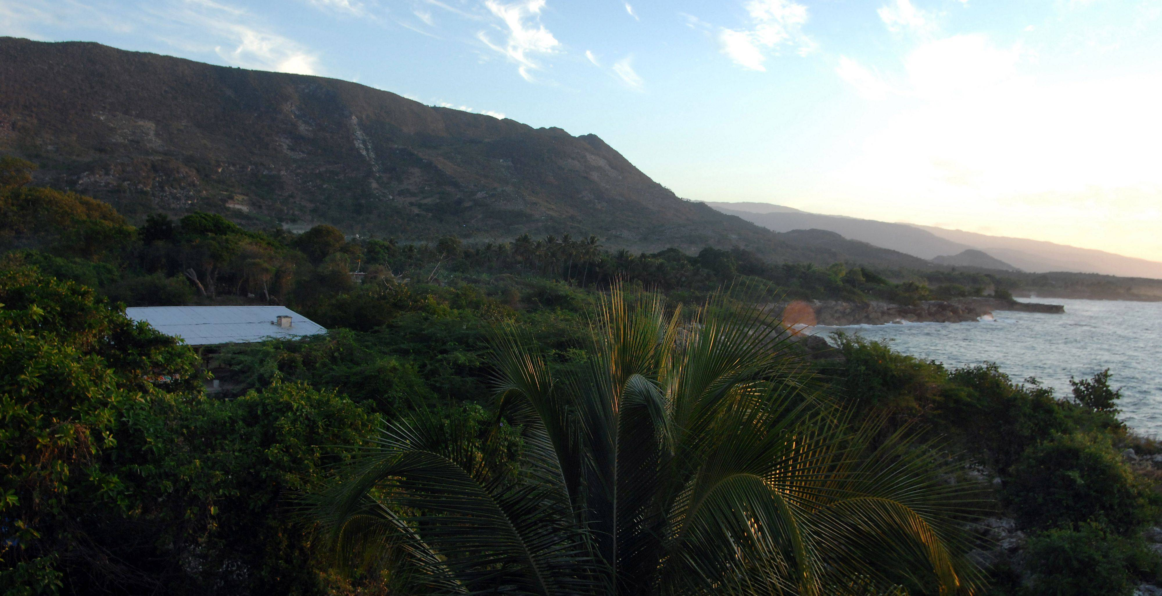 Lisa Ballantine's FilterPure factory sits in the lush countryside next to the Caribbean Sea in Jacmel, Haiti.