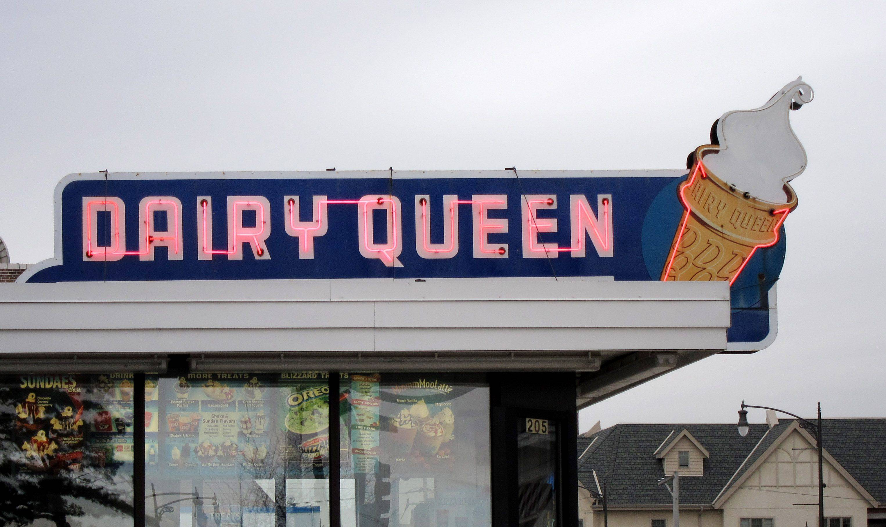 The Dairy Queen sign at 205 S. Main St. in Lombard -- not the building itself -- is listed as a local landmark.