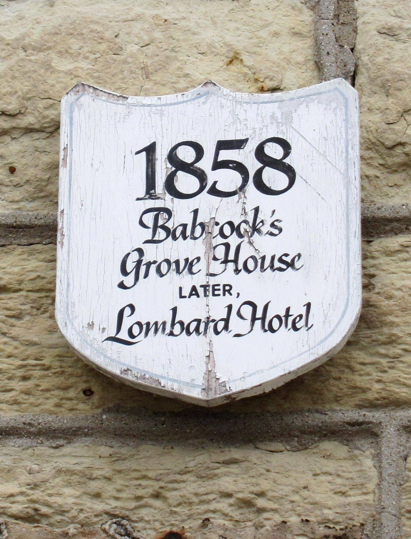 The former Lombard Hotel is one of about 35 sites in the village recognized with an honorary plaque from the Lombard Historical Society.