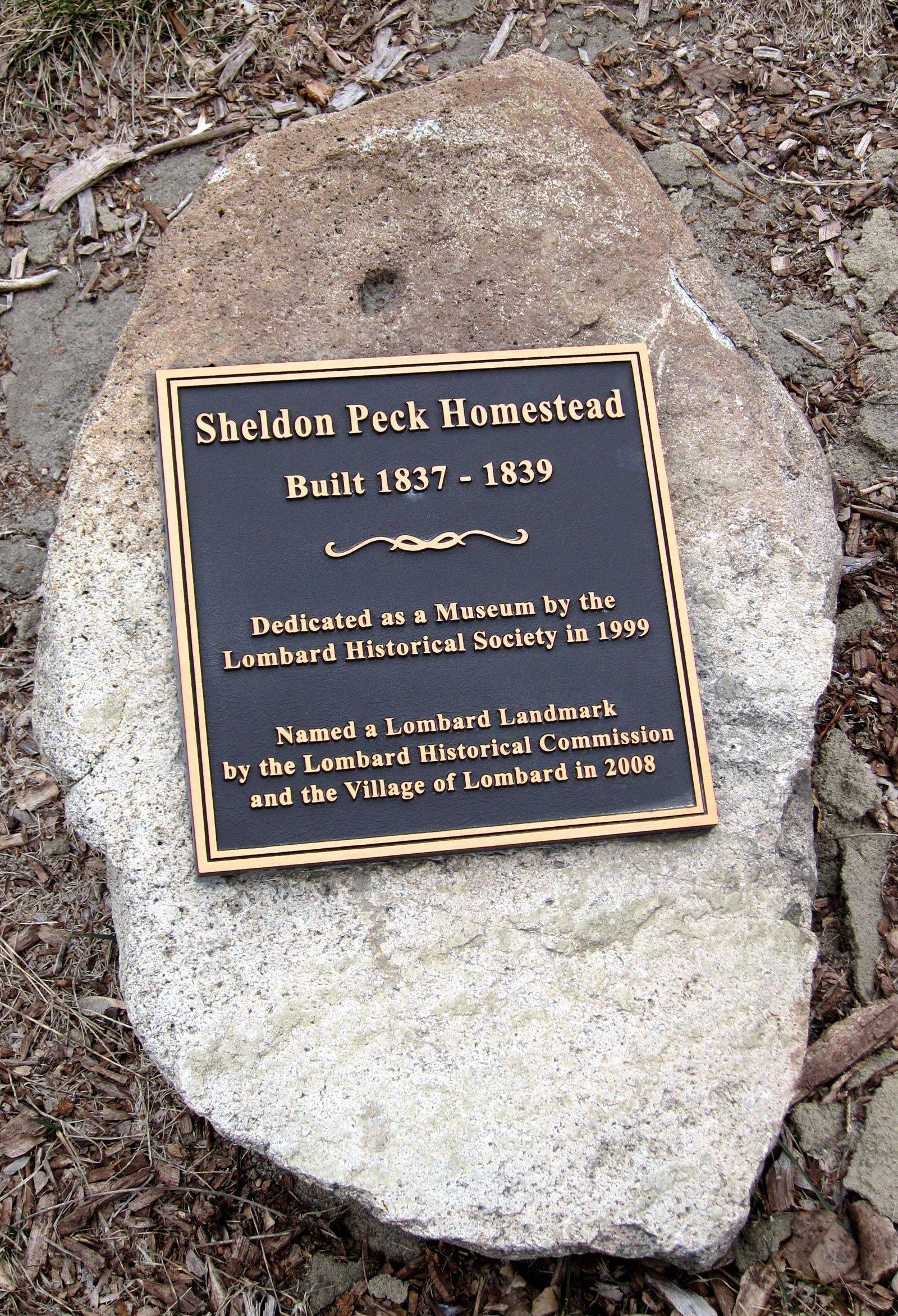 The Sheldon Peck Homestead at 355 E. Parskside Ave. in Lombard has been designated a local landmark since 2008.
