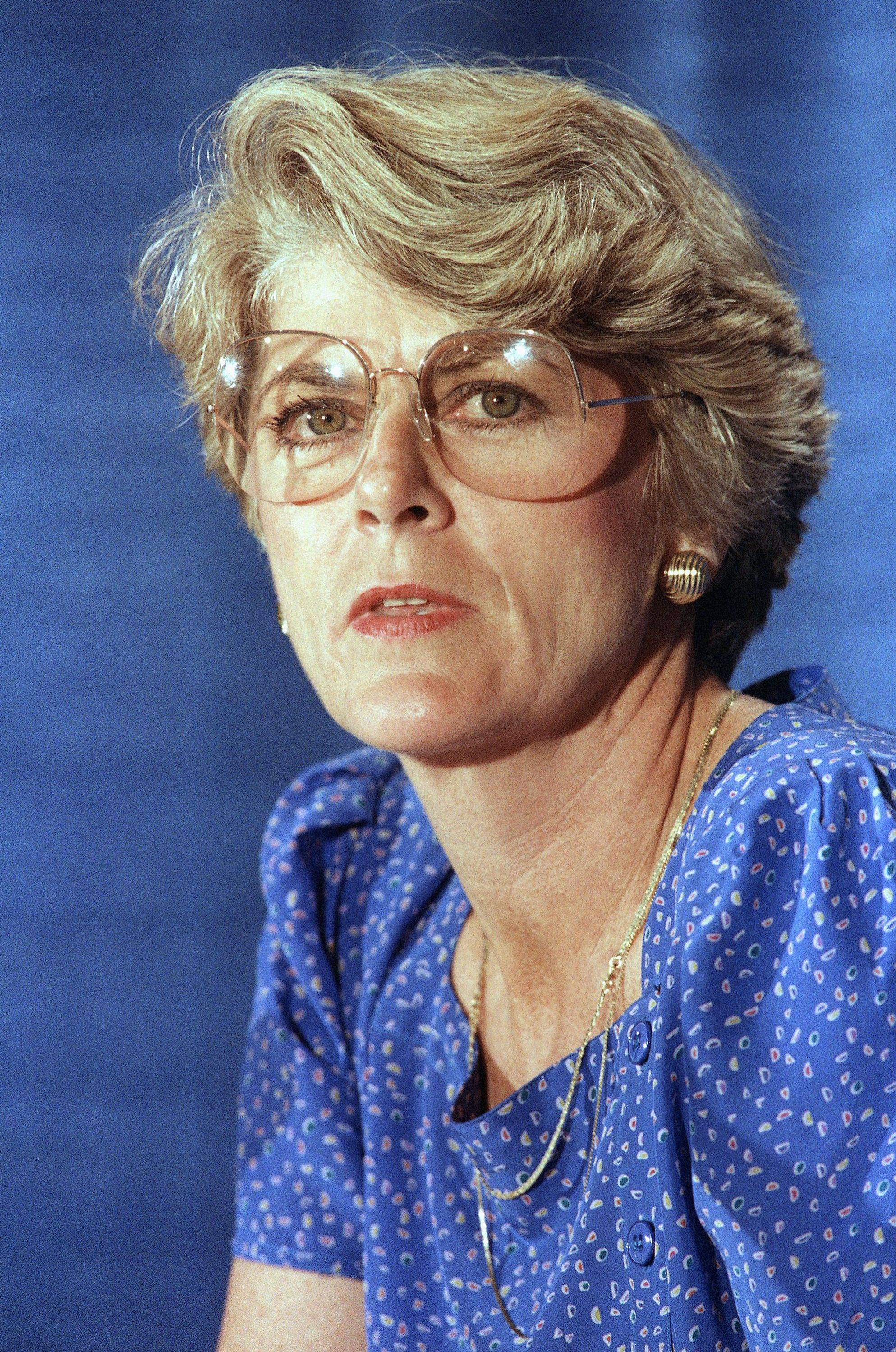 This Tuesday, Aug. 21, 1984 file picture shows Geraldine Ferraro at a news conference in New York. A spokesperson said Saturday, March 26, 2011 that Ferraro, the first woman to run for vice president, has died at 75.
