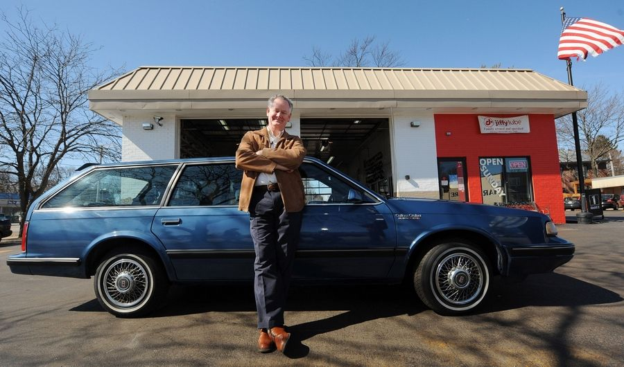 Paul Brown has had the same Oldsmobile Cutlass station wagon for more than 300,000 miles. He hopes to keep it for another 100,000 miles.