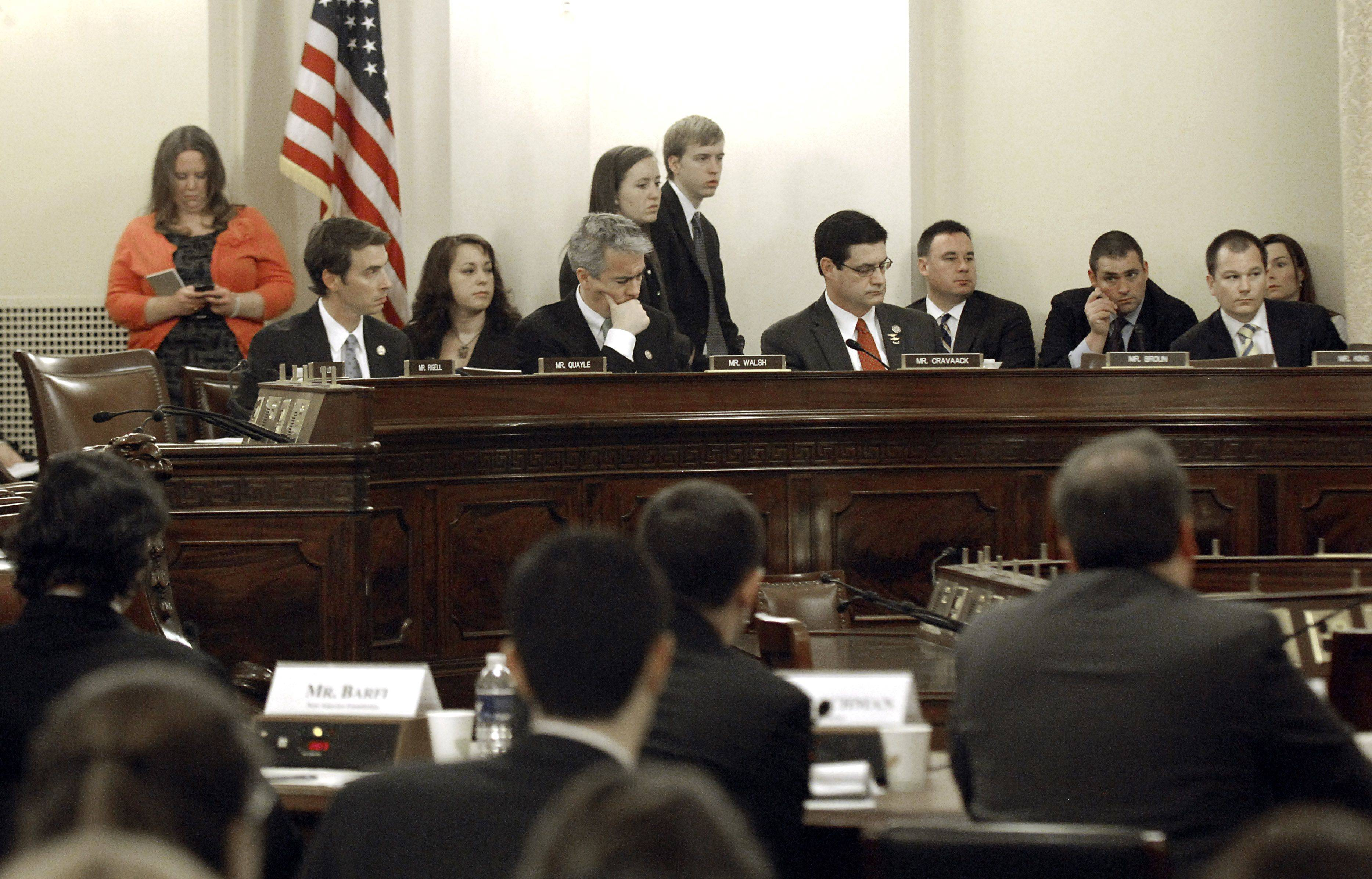 Congressman Joe Walsh sits in a Homeland Security Committee meeting on Wednesday, March 2.