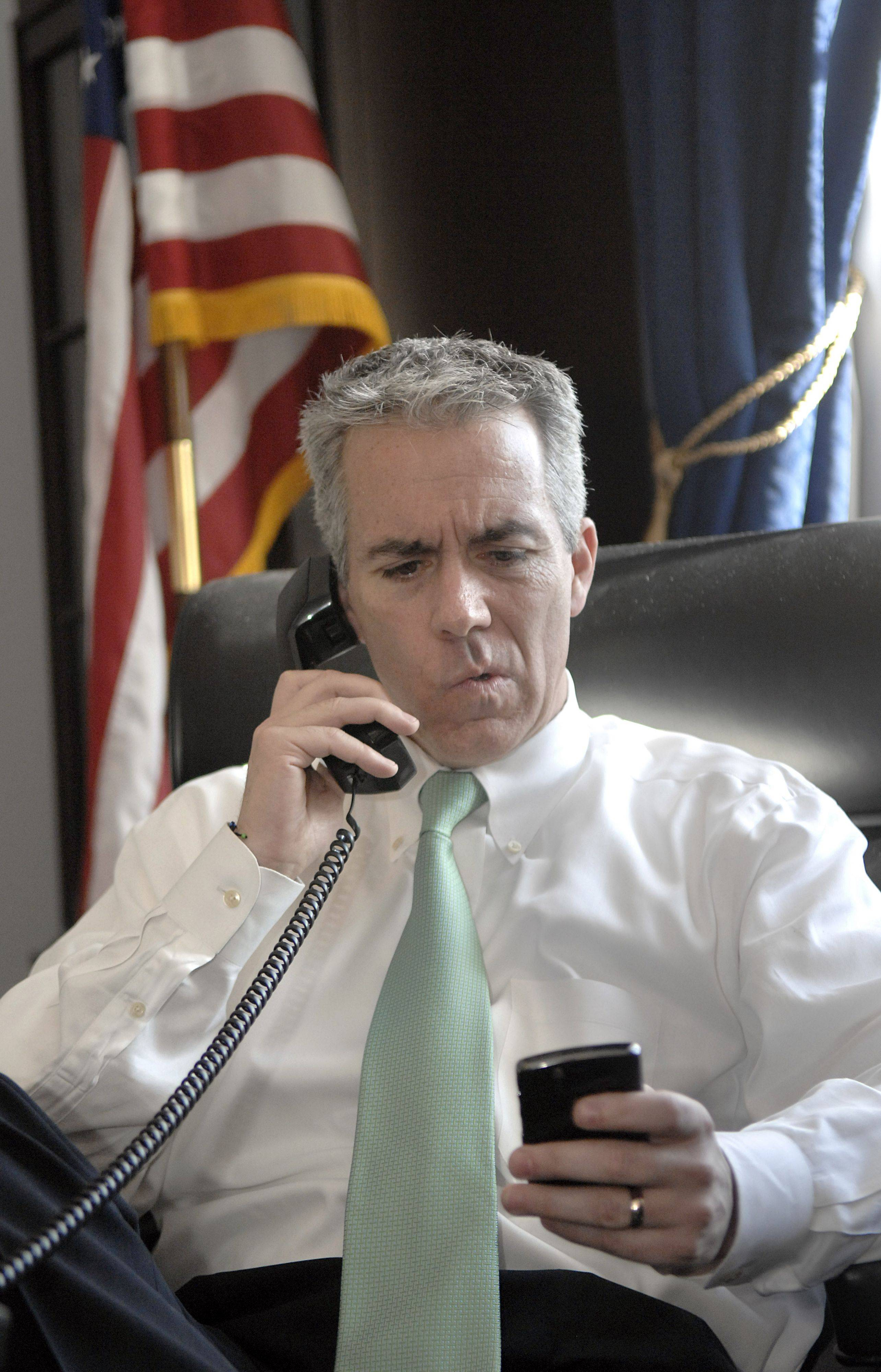 Illinois congressman Joe Walsh does a phone interview with Chicago's WIND 560 AM on March 1 from his Washington, D.C. office.