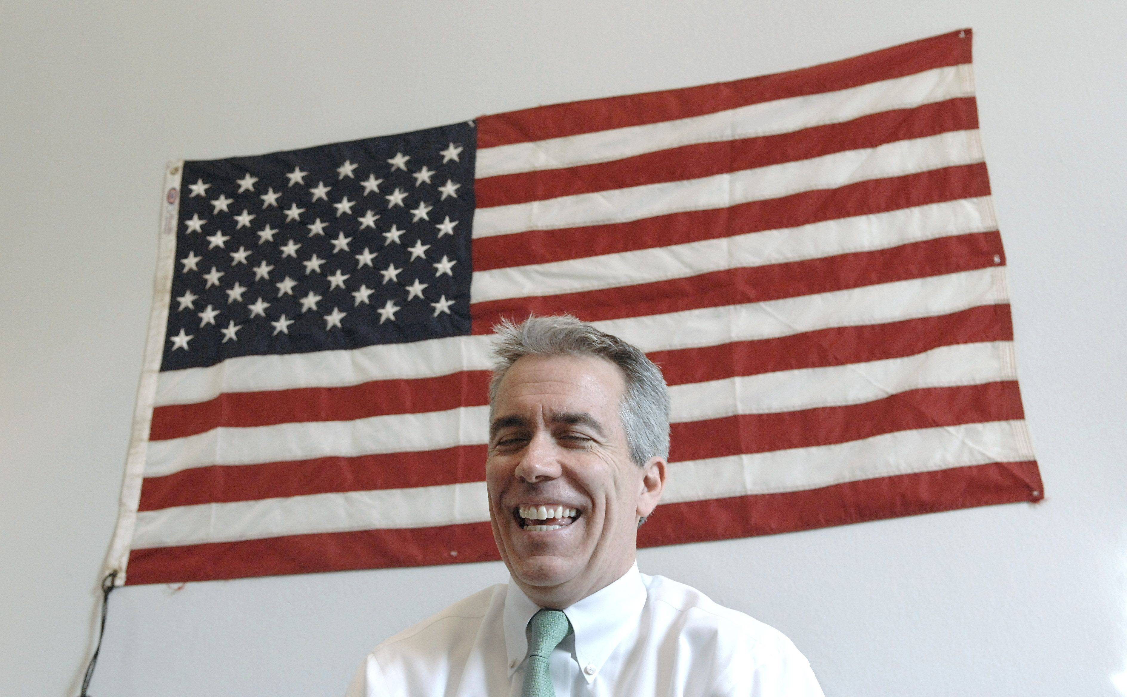 Rep. Joe Walsh of McHenry keeps a fast and often informal pace in his D.C. office.