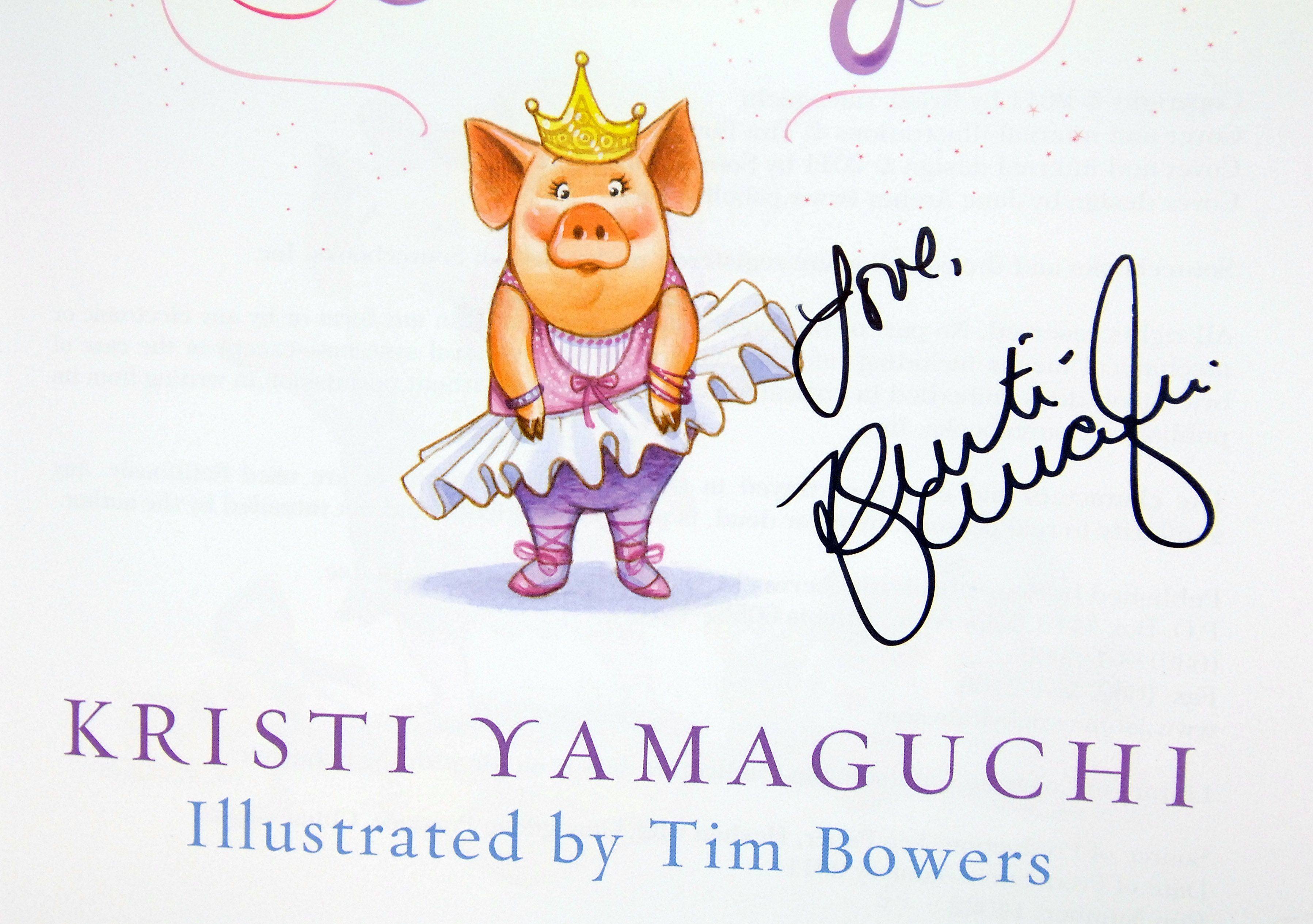 Some students who bought Kristi Yamaguchi's book found her autograph inside.
