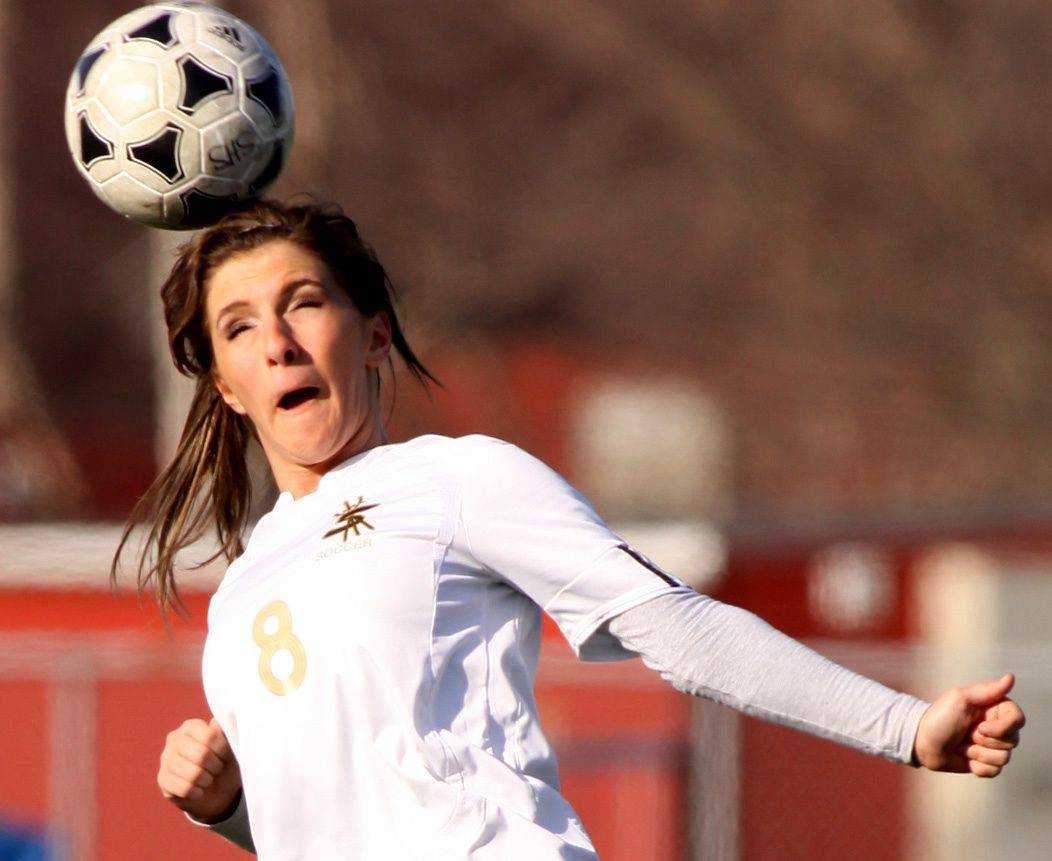 Njomza Vitija of Streamwood controls the ball against St. Charles East at Millenium Field in Streamwood Thursday.