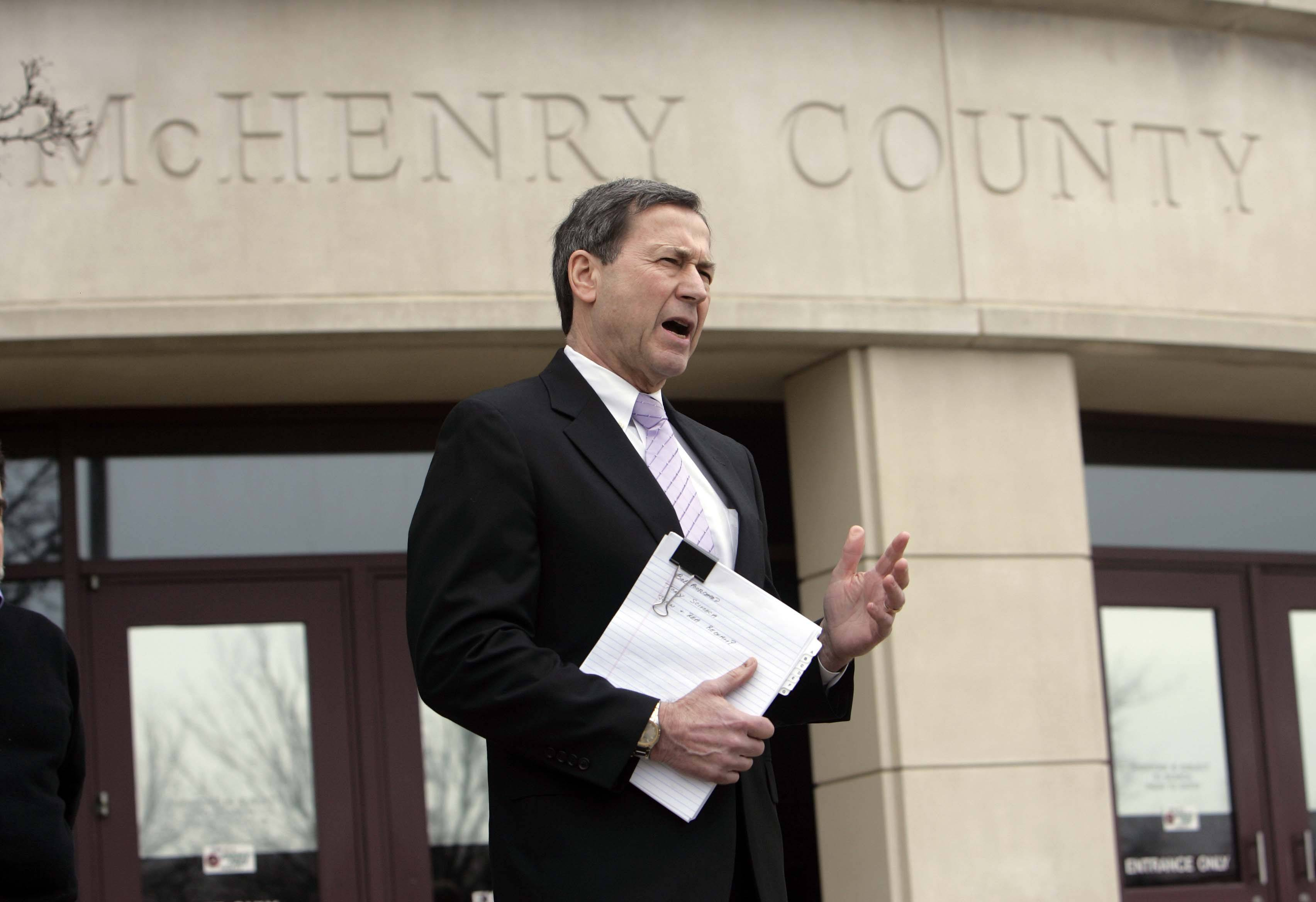 Terry Ekl, the defense attorney for McHenry County State's Attorney Louis Bianchi, talks about a lawsuit filed Thursday that asks judge to dismiss the special prosecutors who investigated Bianchi on corruption charges for incompetence and over billing.