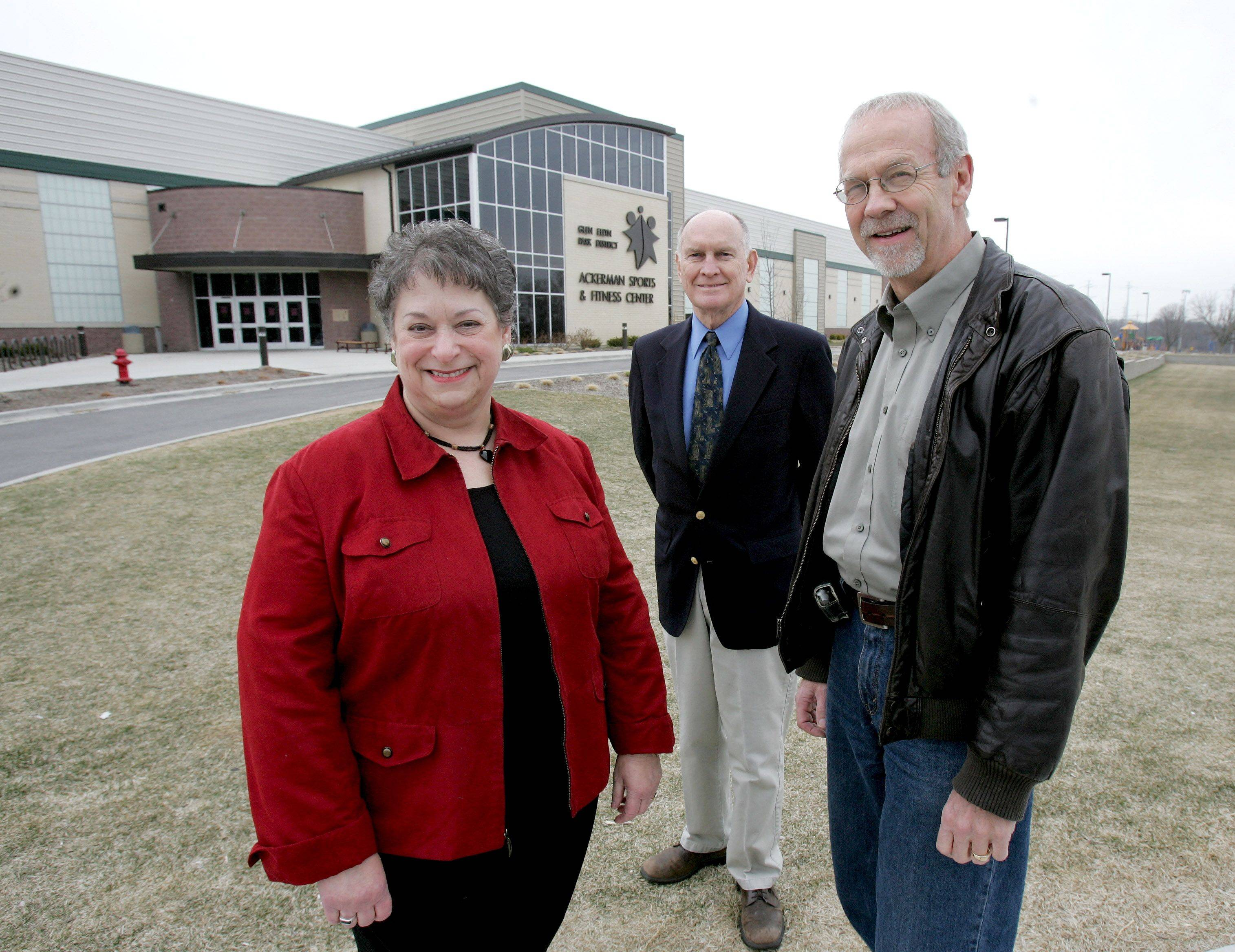 Kathy Cornell, Richard Dunn and Gary Mayo were elected to the Glen Ellyn Park District board as a slate that emphasized better financial management and increased transparency in government. They were critical of added costs to the district's Ackerman Sports and Fitness Center.