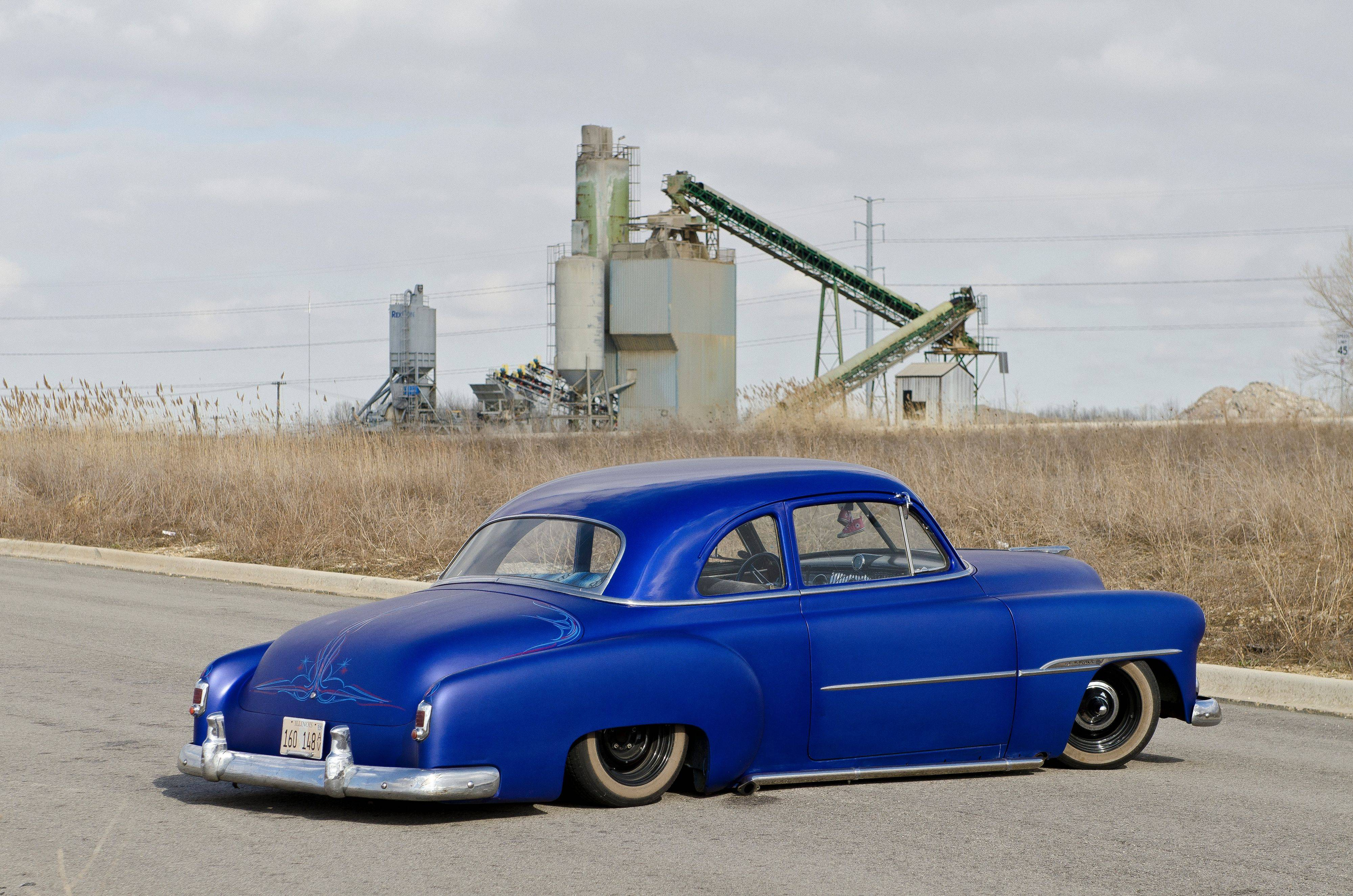 A 1951 Chevrolet coupe.