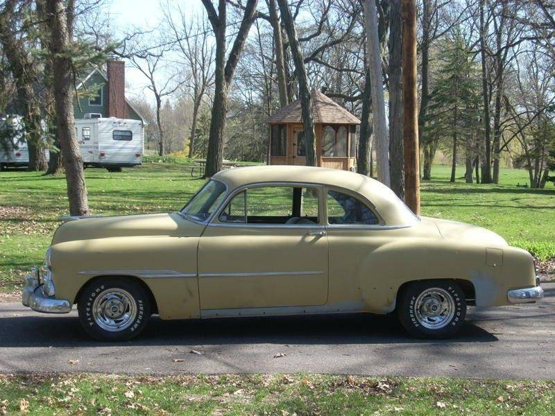 Before its transformation, this pale yellow Chevy was offered for sale in Ohio. O'Malley found it online.