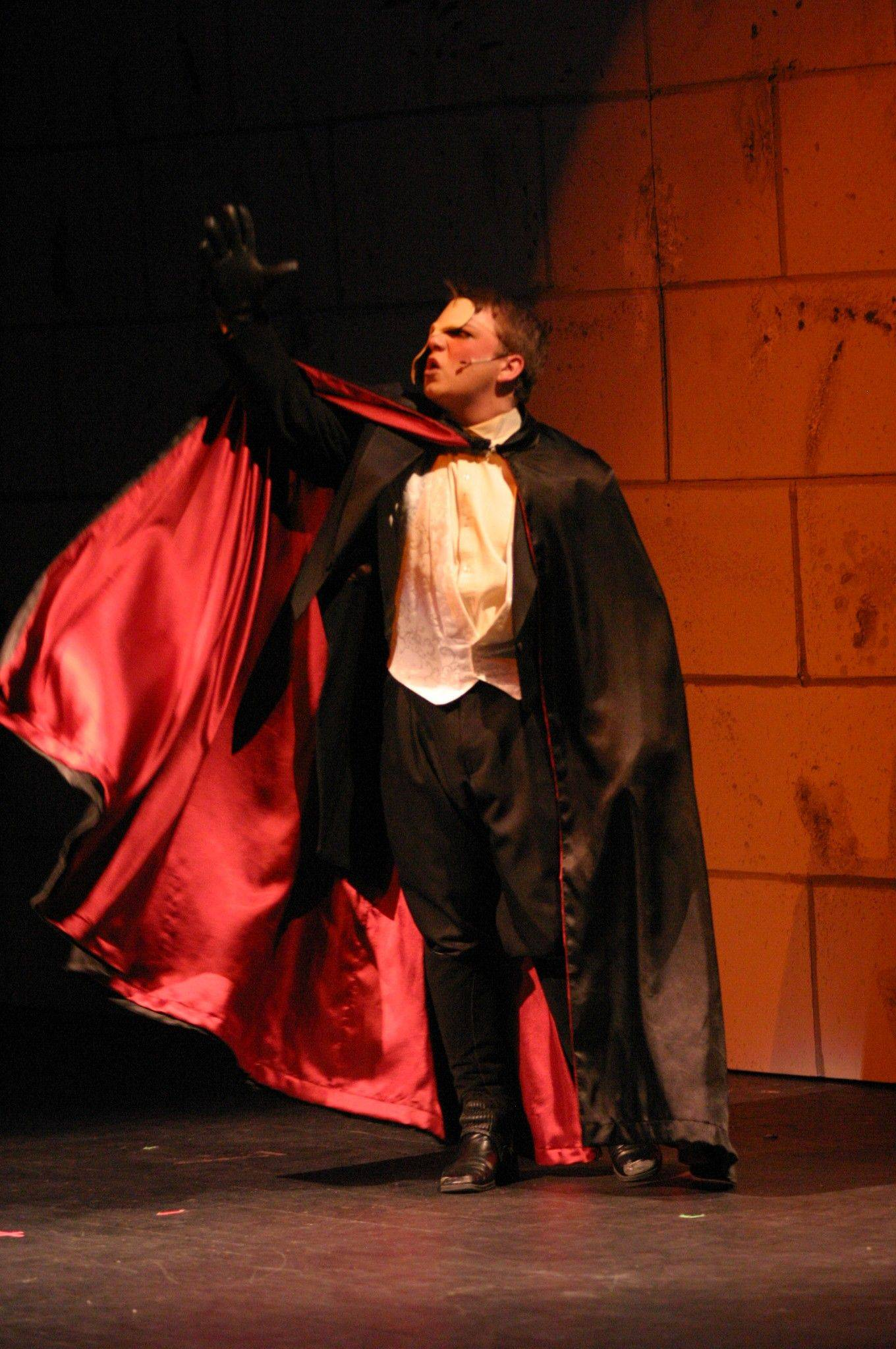 "Brandon Pisano performs in Streamwood High School's production of ""Phantom of the Opera,"" which runs through Saturday, April 16."