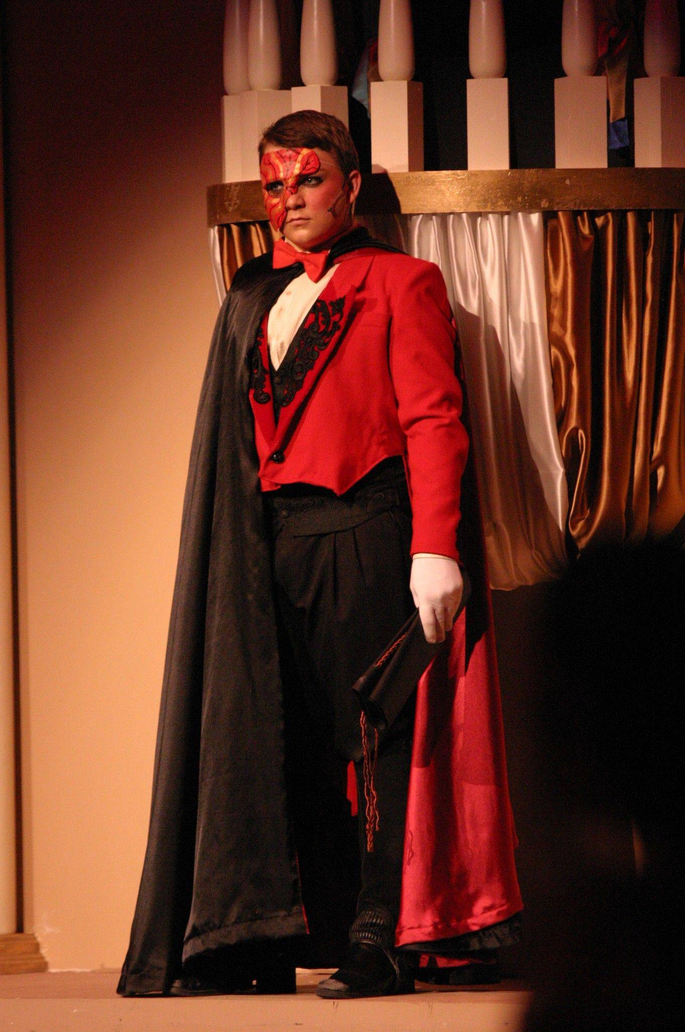 "Brandon Pisano stars in Streamwood High School's production of ""Phantom of the Opera,"" which runs through Saturday, April 16."