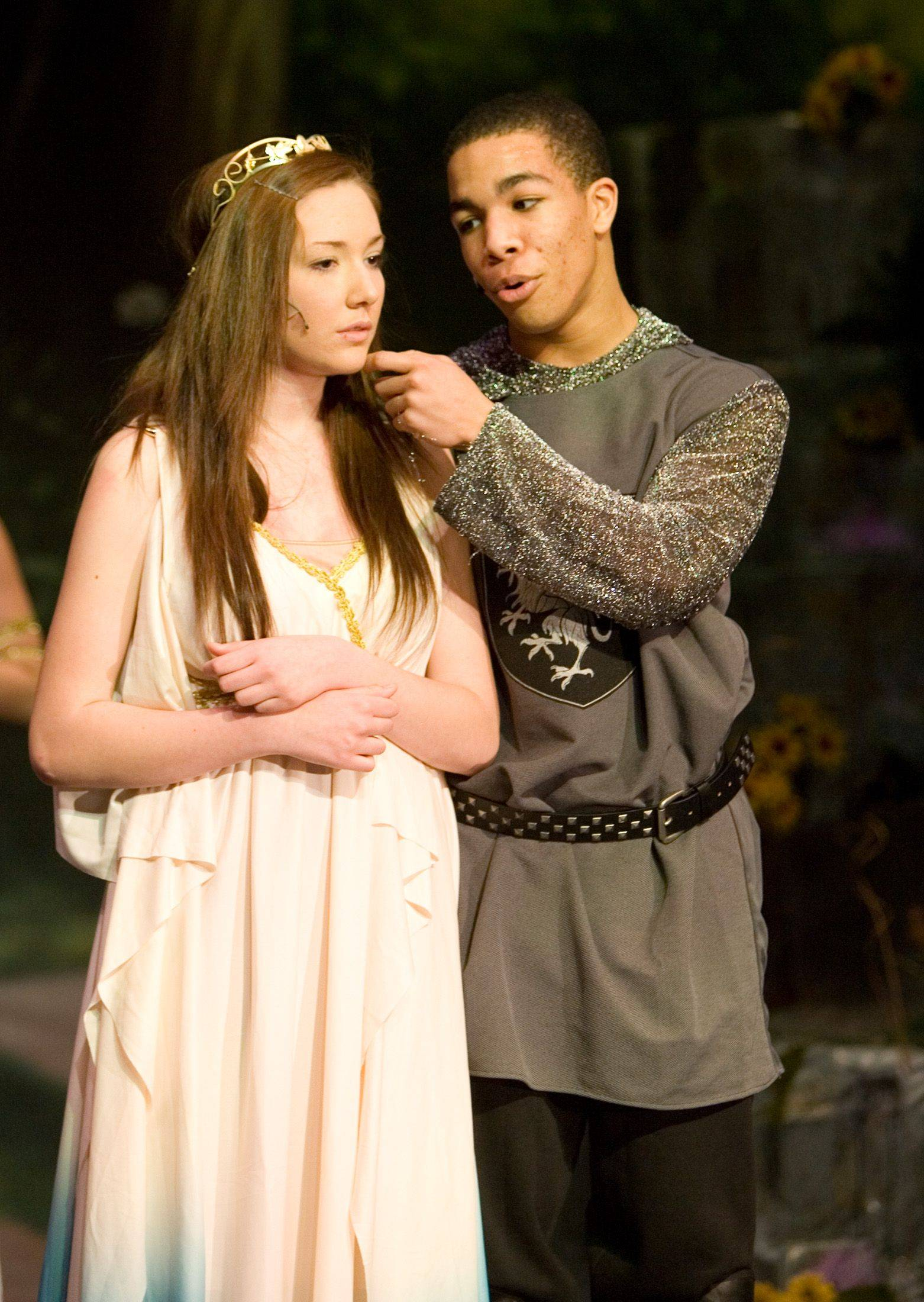 "Adri Tronco portrays Selene and Alf Sanford plays Ethais in ""Fallen Fairies."""