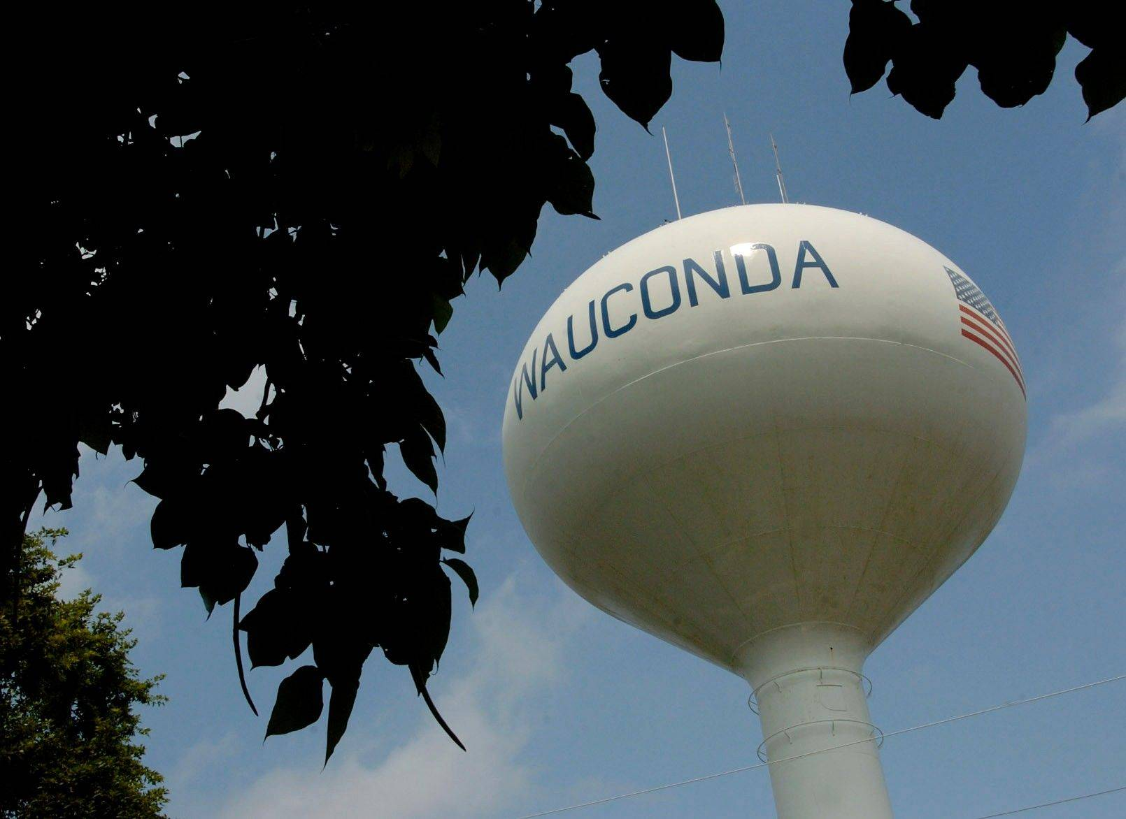 Wauconda is looking forward to the day when it can fill this tower with Lake Michigan water instead of well water.