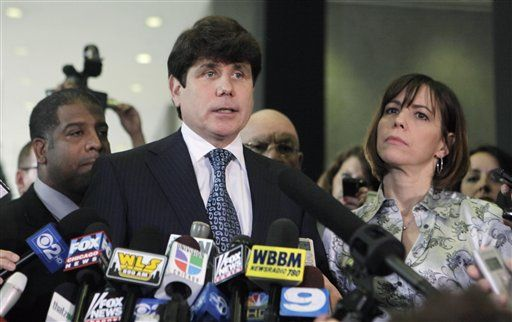 Fomer Illinois Governor Rod Blagojevich and wife Patti.