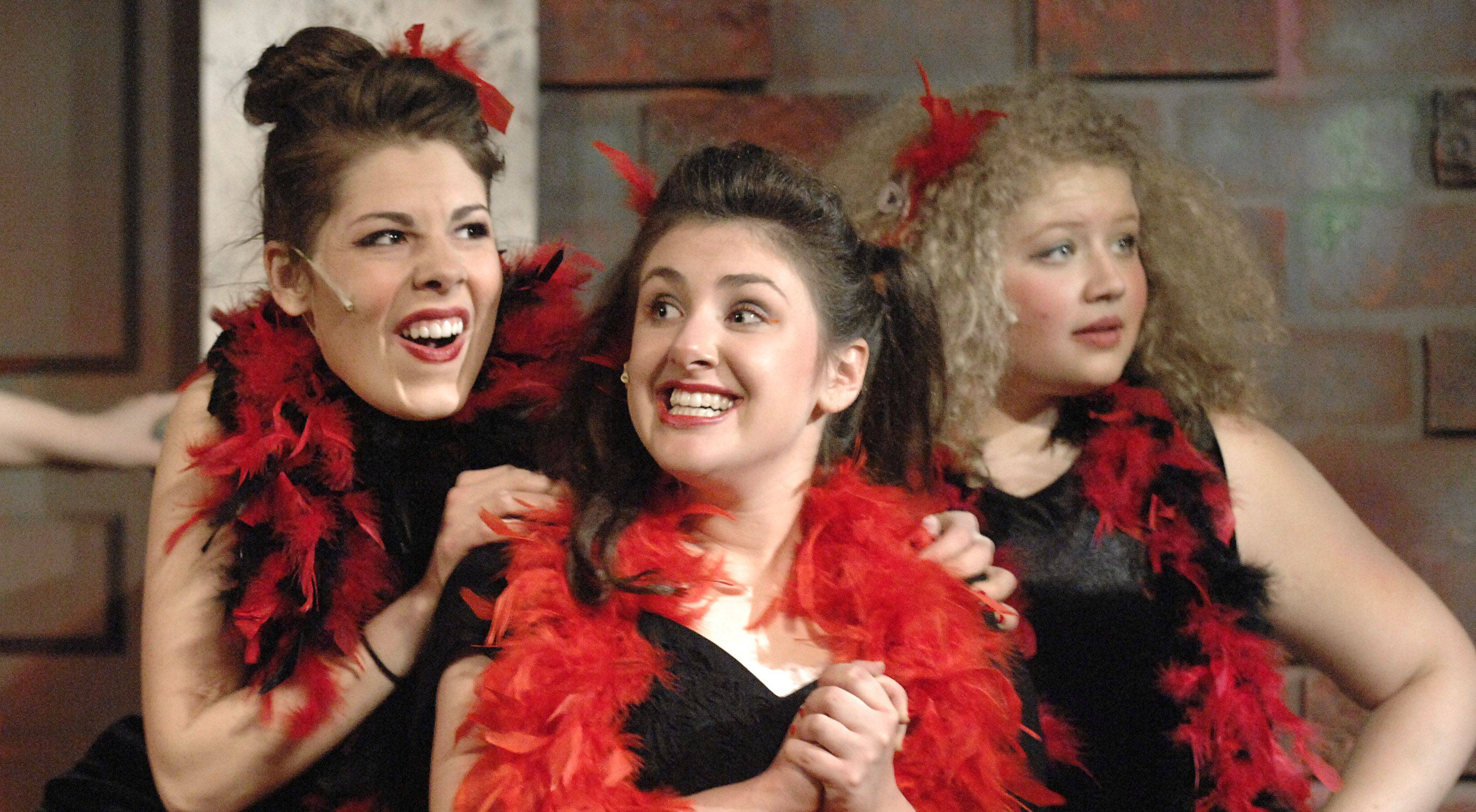 "Doo-Wop girls -- senior Jessi McClusky, freshman Glynis Gilio and junior Megan Warren -- in Batavia High School's production of ""Little Shop of Horrors."""